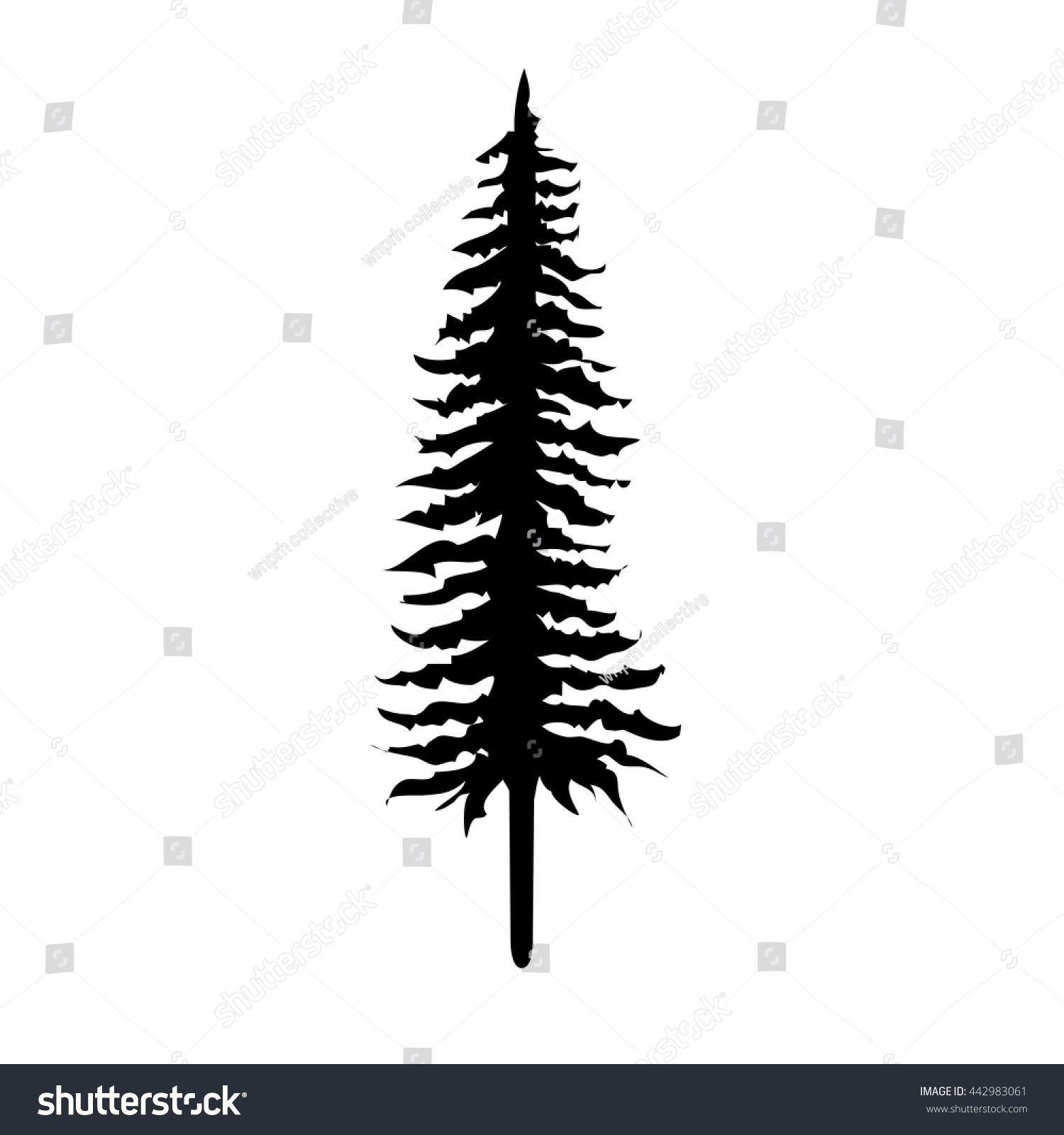 pine tree vector stock vector 442983061 shutterstock rh shutterstock com vector pine tree images vector pine tree shape
