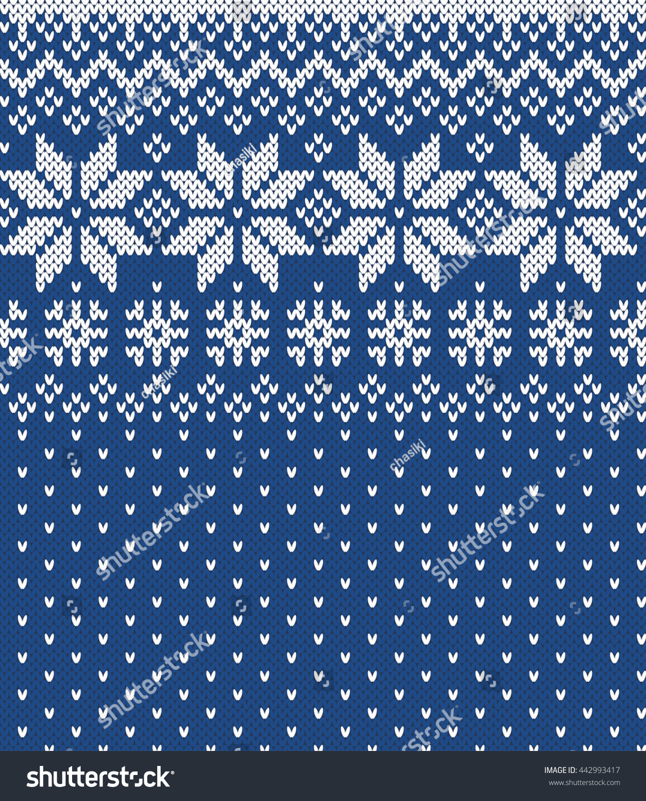Winter Sweater Design Seamless Knitting Pattern Stock Vector ...