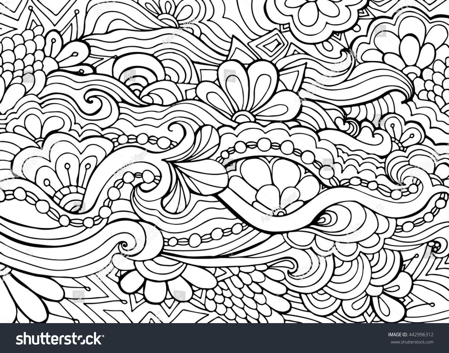 boho flower pattern template background decoration stock vector