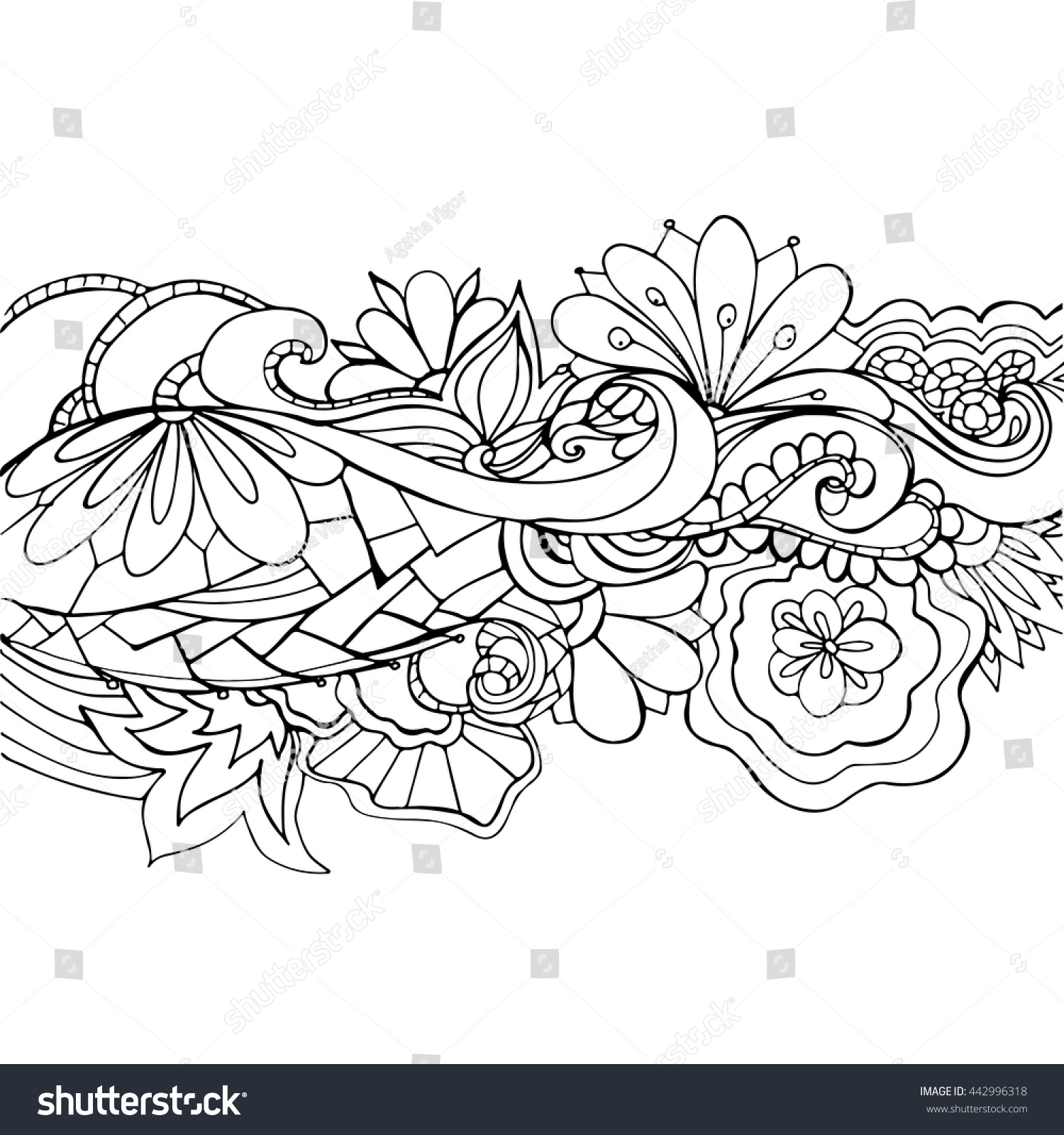 boho flower pattern template background decoration stock vector