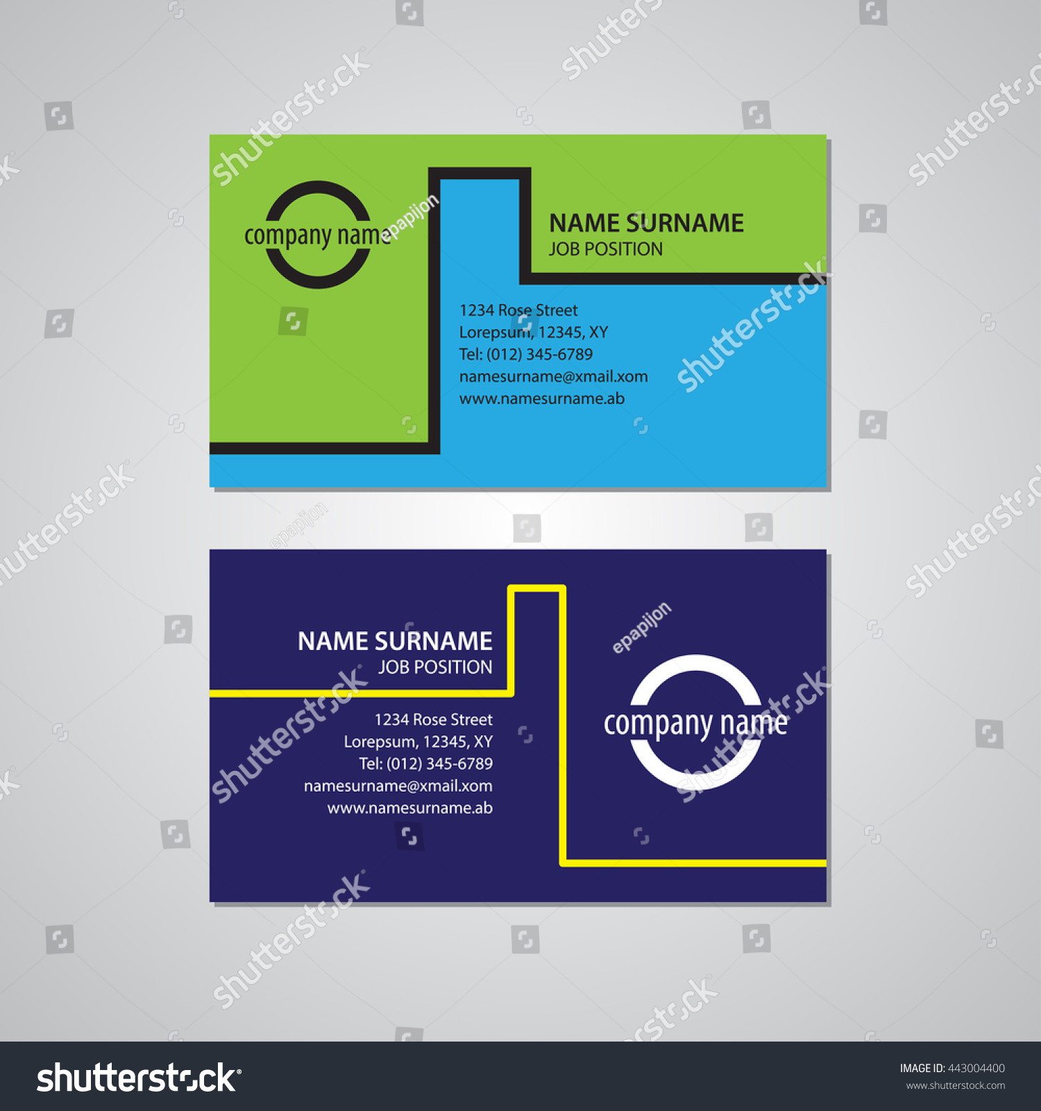 Set Two Business Cards Canada USA Stock Vector HD (Royalty Free ...