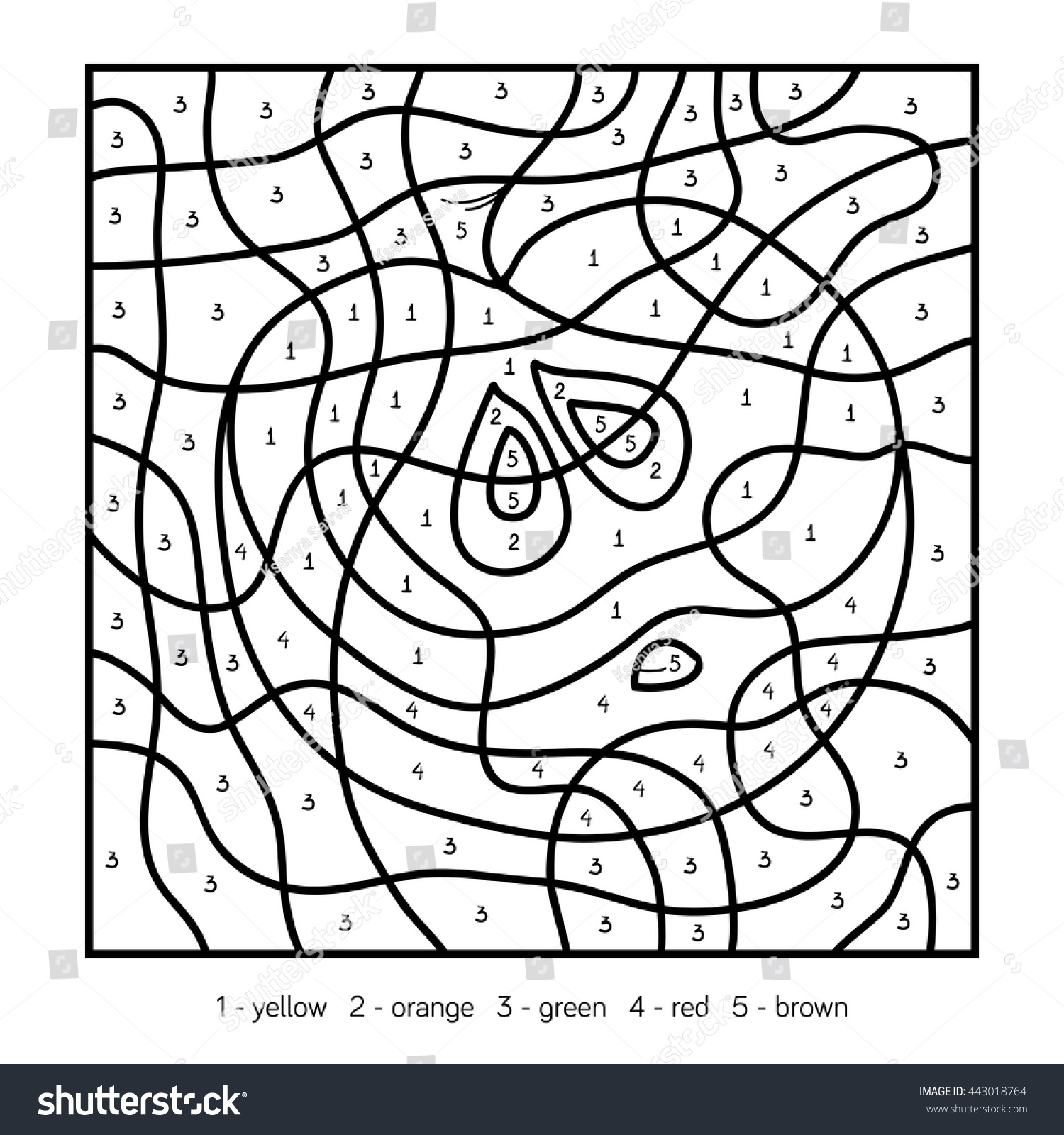Game color by numbers - Color By Number Education Game For Children Coloring Page Fruits And Vegetables
