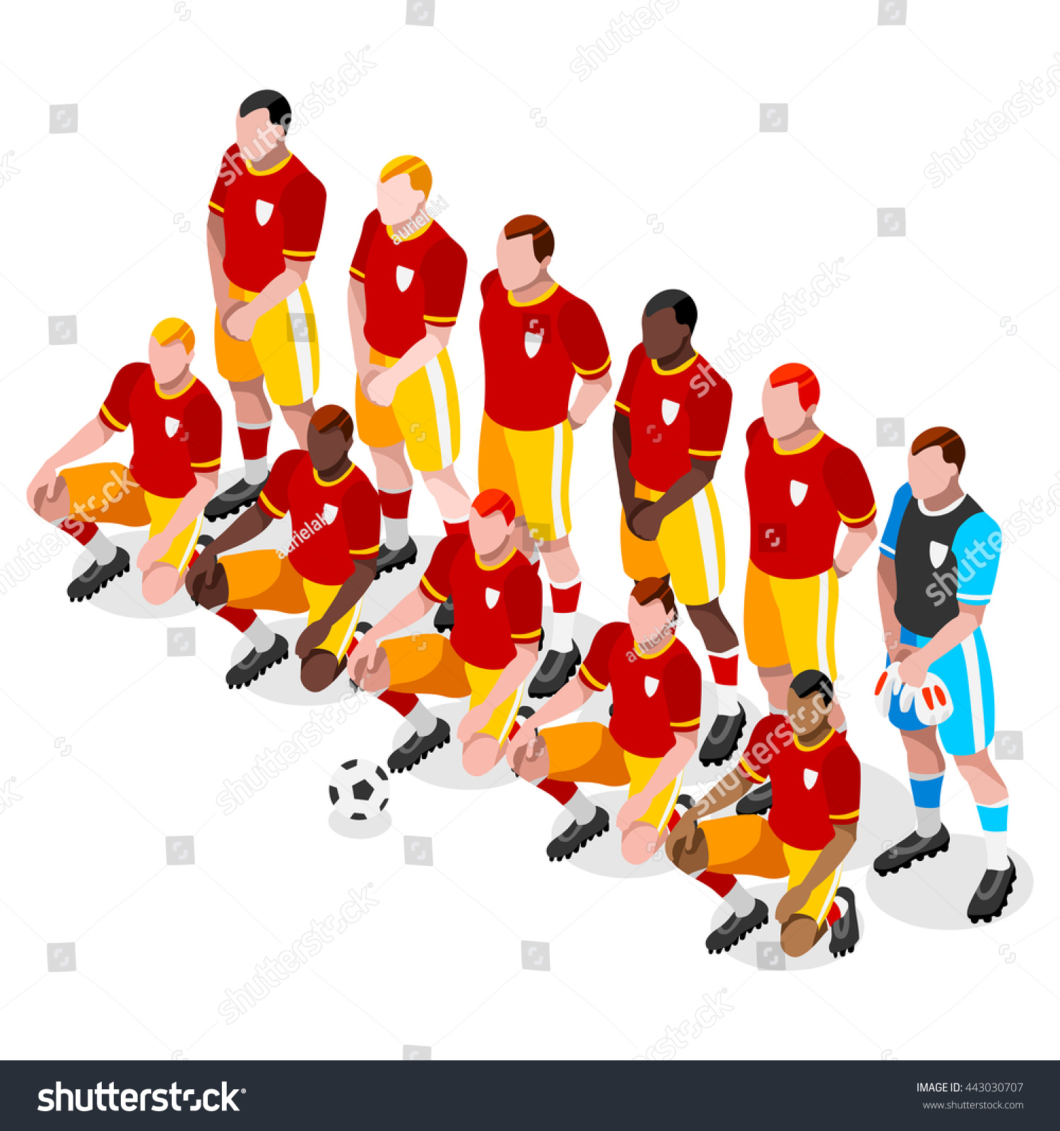 Soccer Player Athlete Football Team Player Stock Vector 443030707 ...