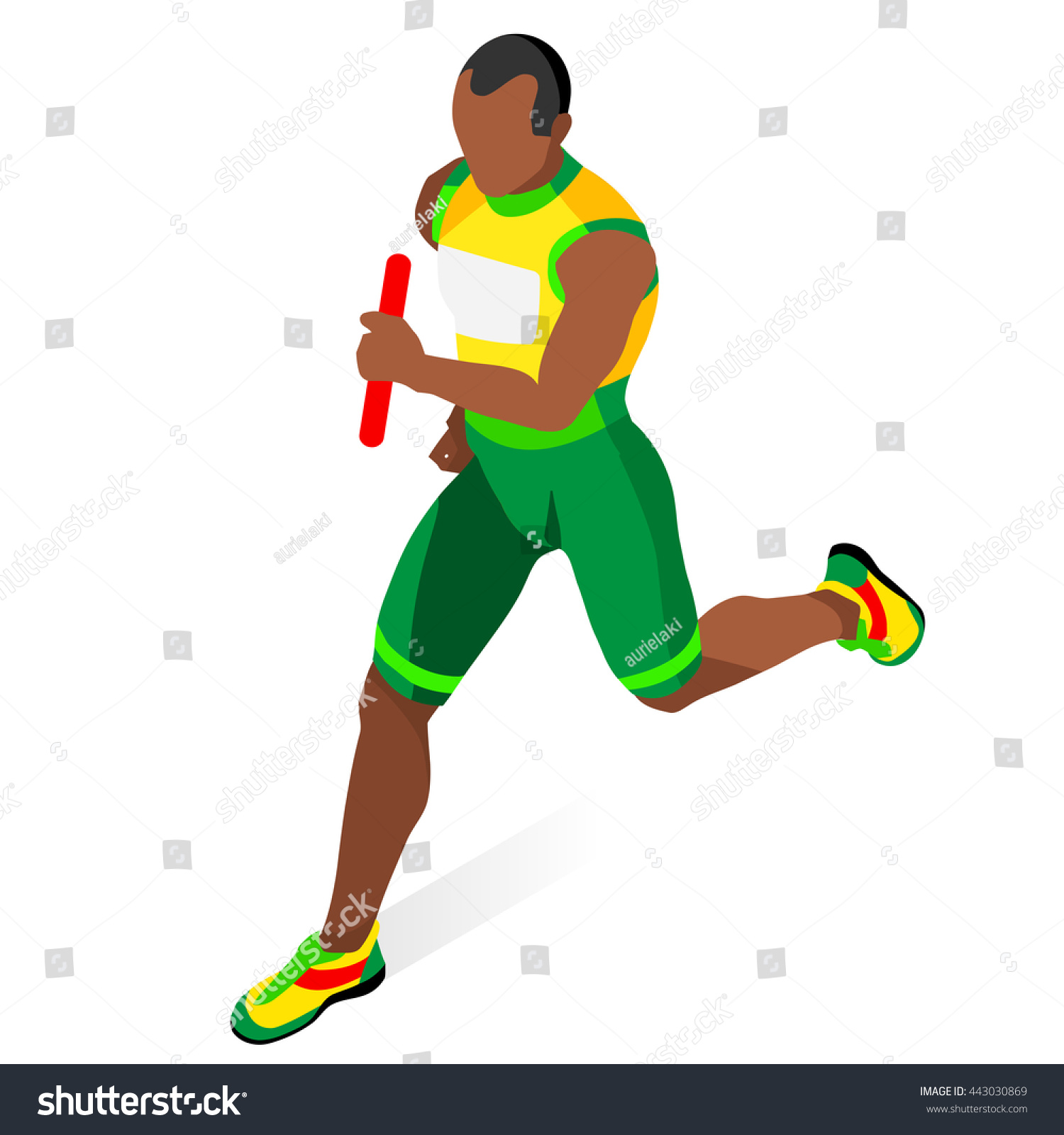 Track & Field Relay Race - Runner Grunge Graphic Clipart Image