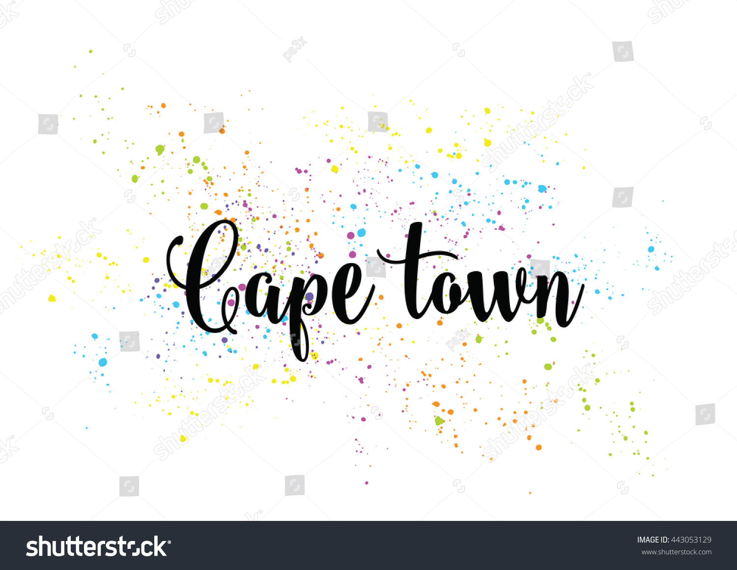 Cape Town South Africa Capital City Stock Vector 443053129