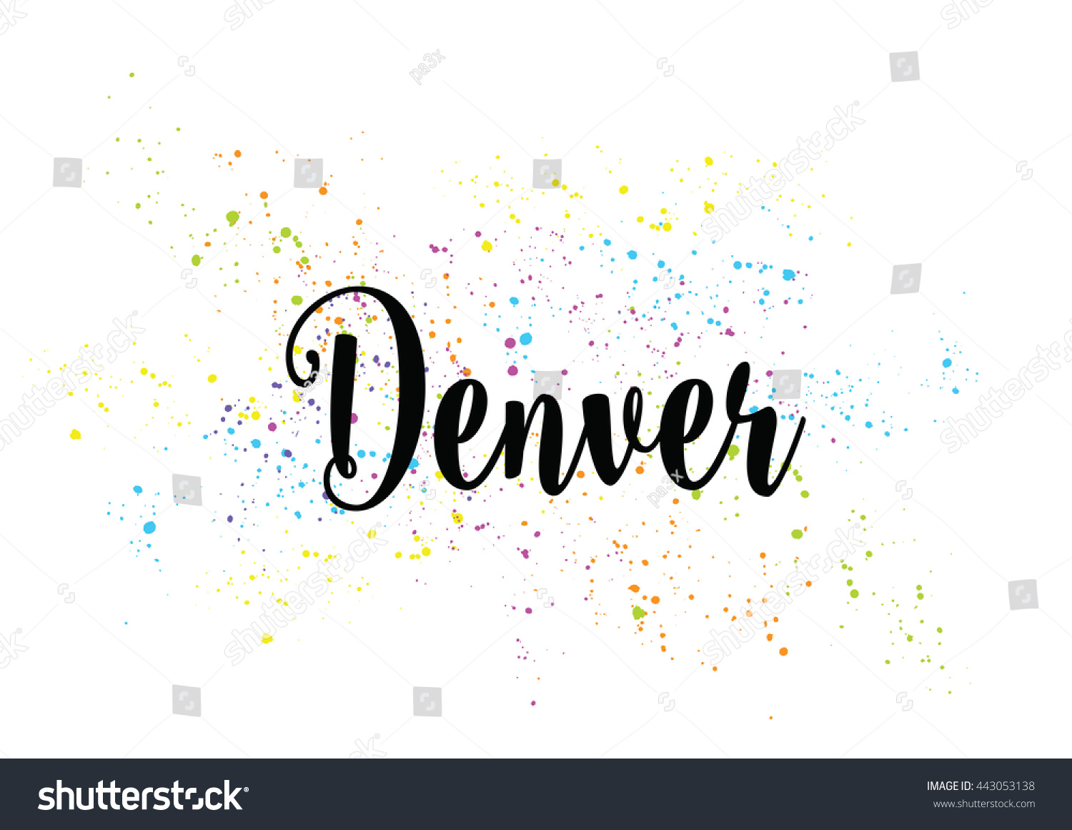 Denver City Typography Lettering Design Hand Stock Vector Royalty