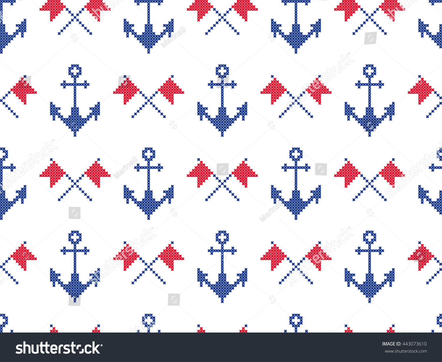 Nautical symbols anchors signal flags background stock vector nautical symbols anchors signal flags background in marine style seamless pattern bankloansurffo Gallery