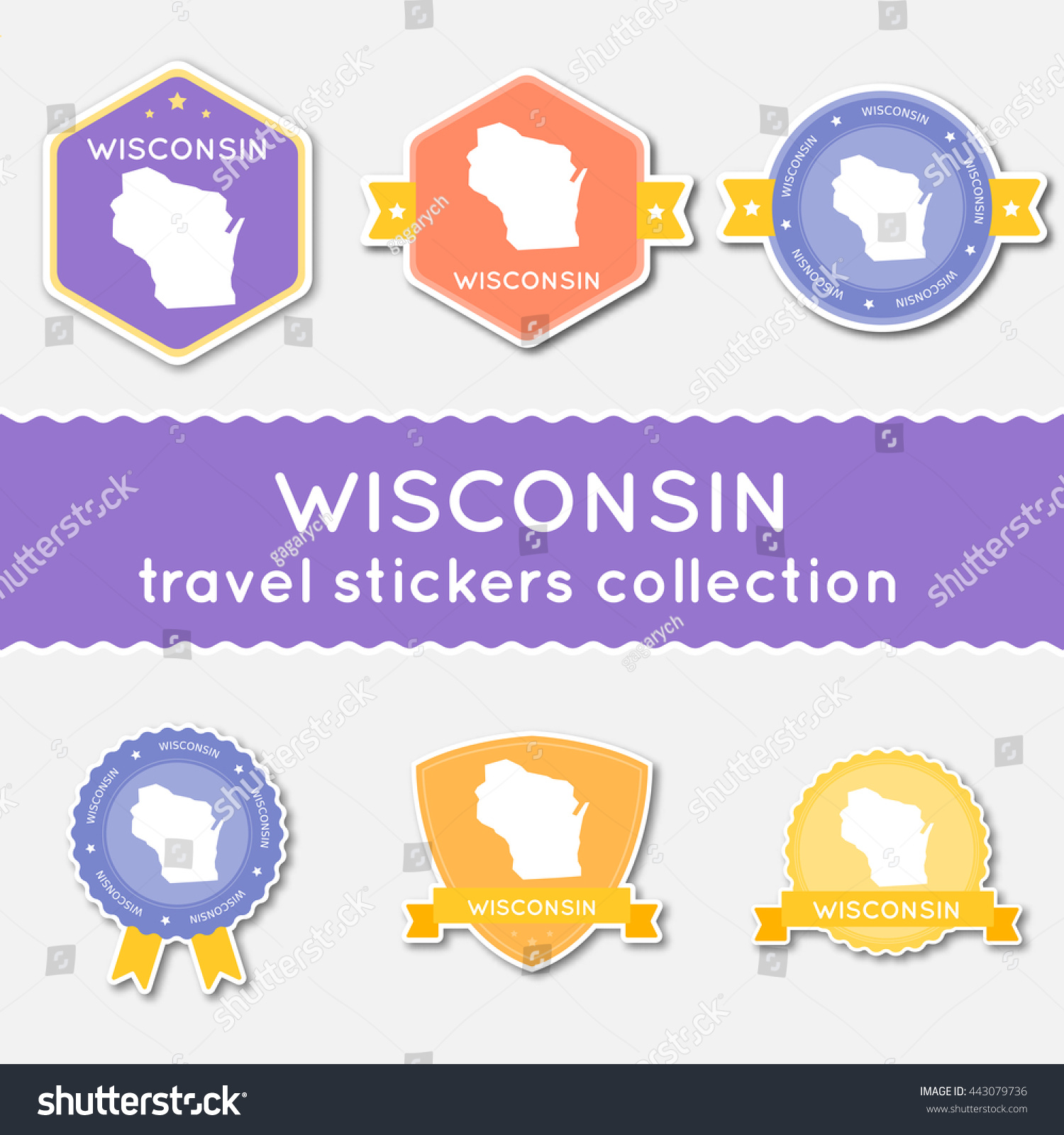 Wisconsin Travel Stickers Collection Big Set Of Stickers With Us – Wisconsin Travel Map