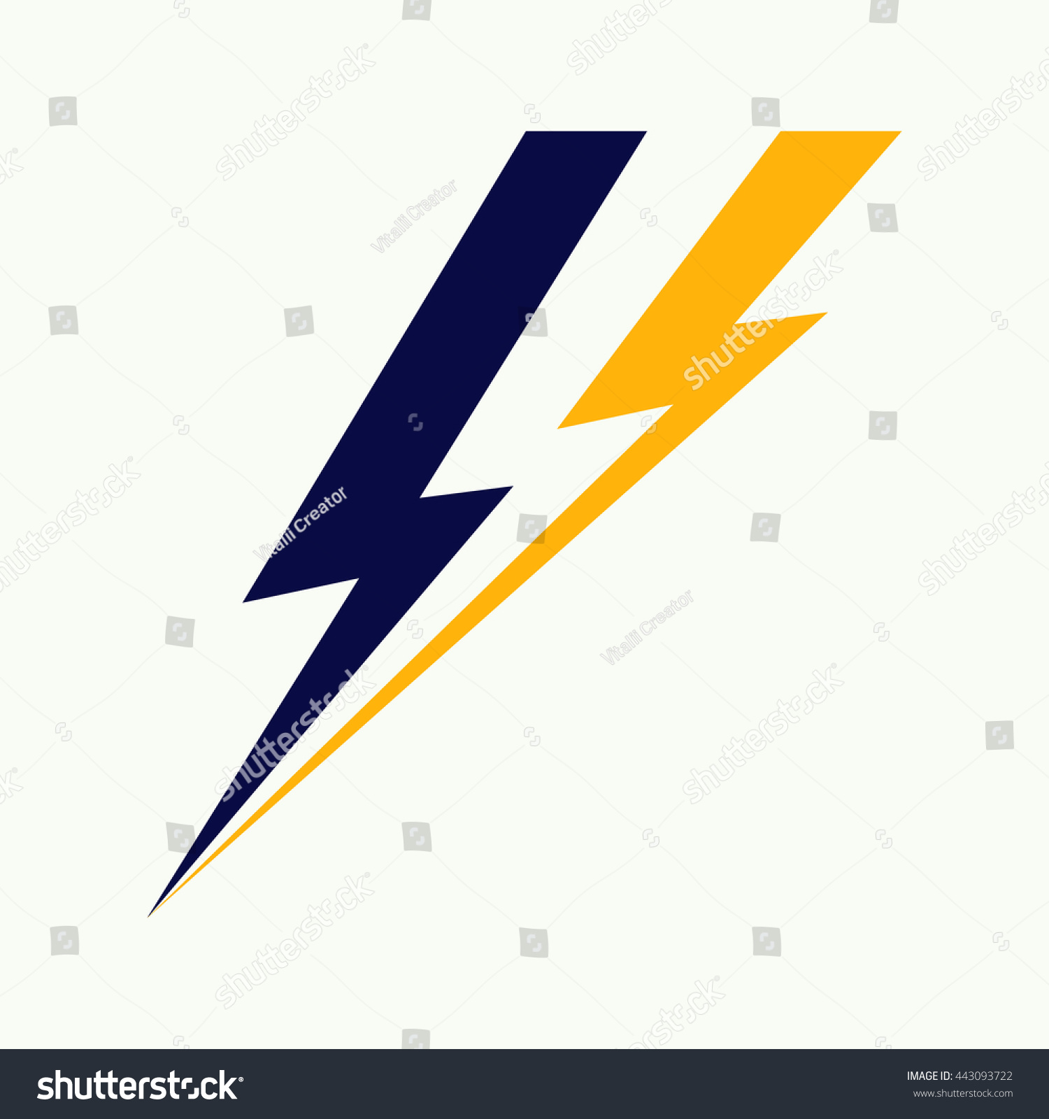 Vector Lightning Bolt Logo Lightning Bolt Stock Vector 443093722 ... for Vector Lighting Bolt  155fiz