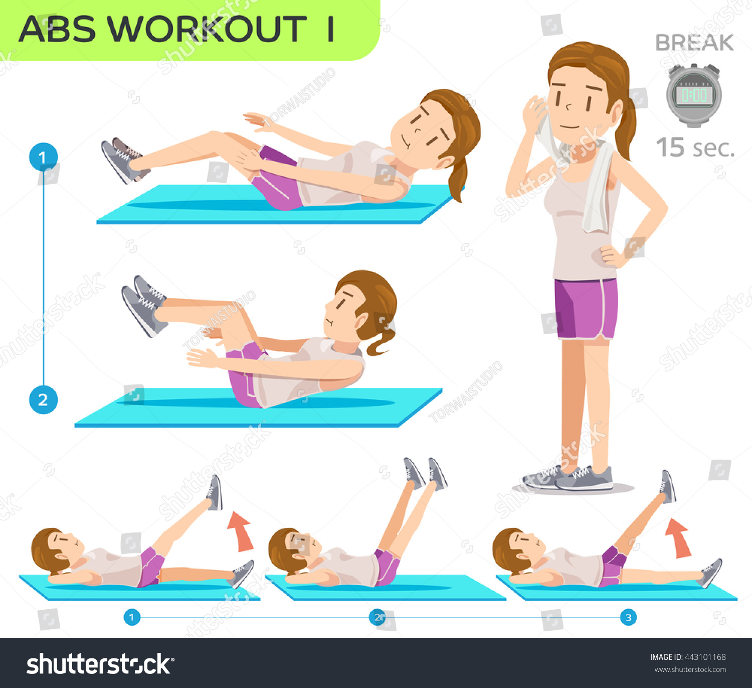 how to get abs for women at home