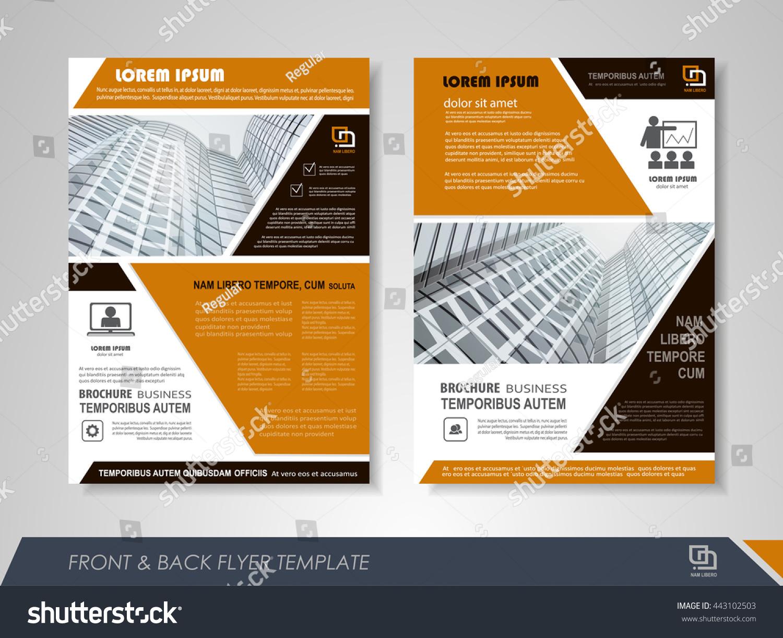 front back page brochure flyer design のベクター画像素材