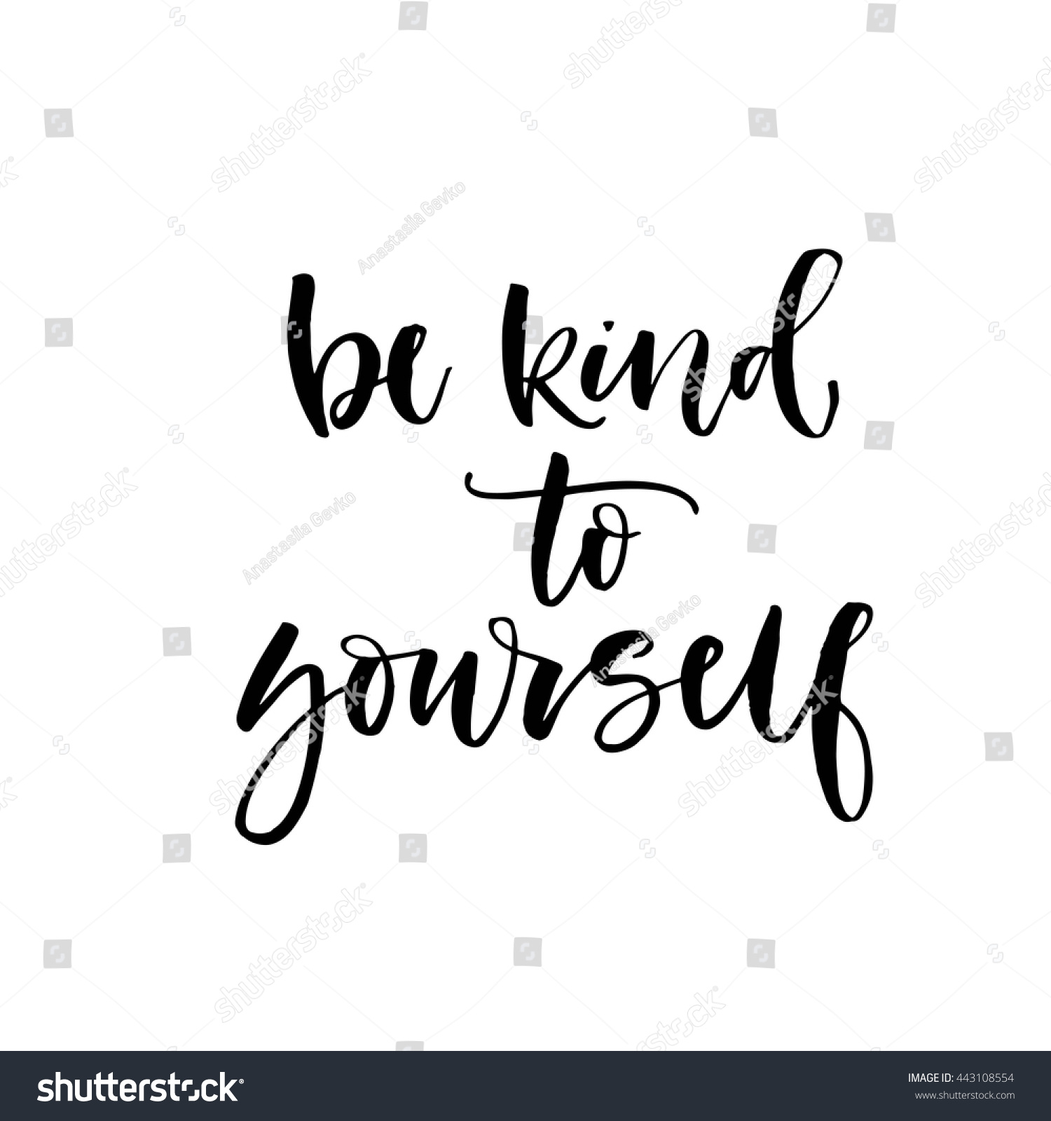Download Be Kind Yourself Card Hand Drawn Stock Vector 443108554 ...