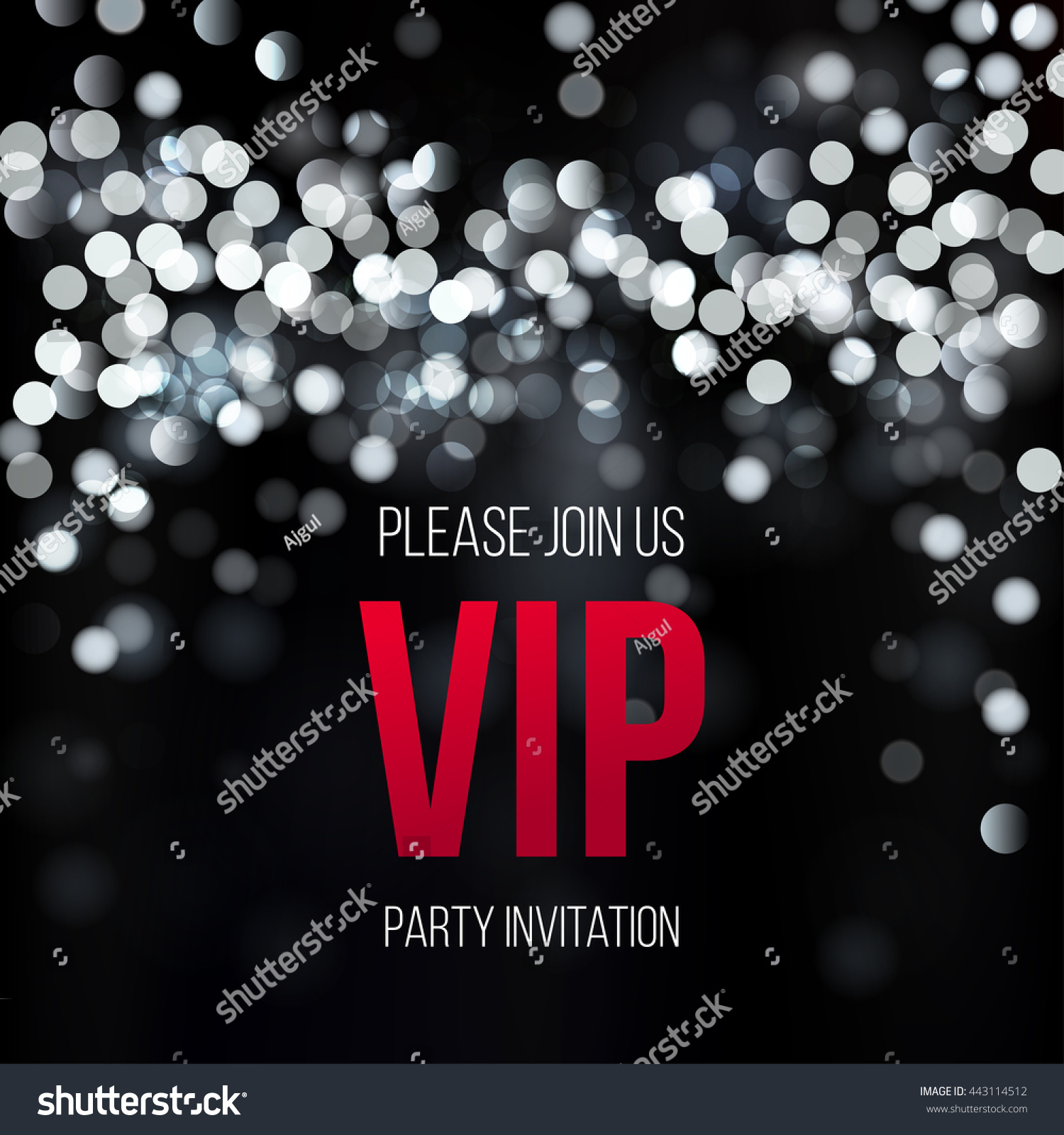 VIP Party Premium Invitation Design Template Stock Vector (Royalty ...