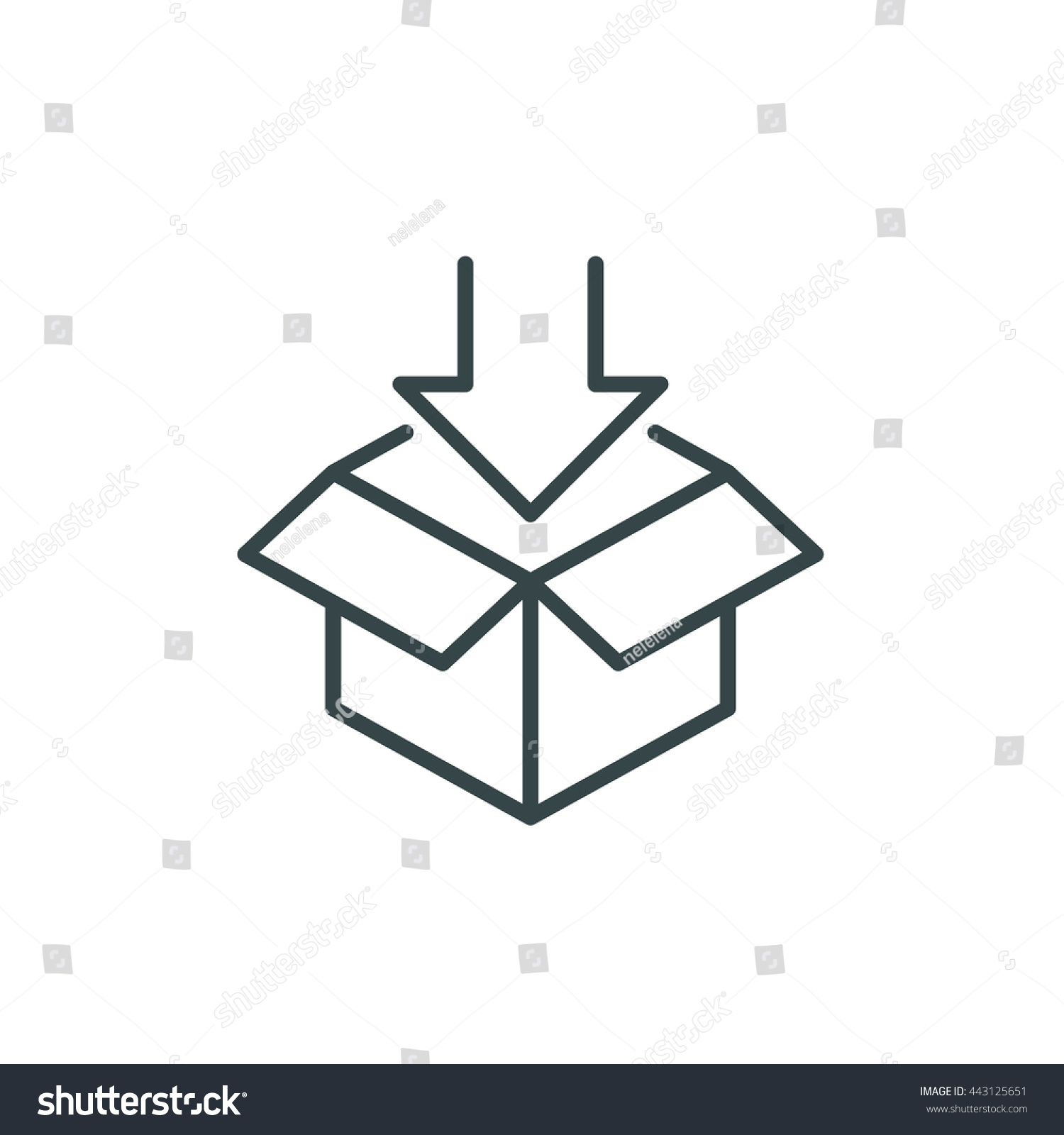 Open box symbol symbol packaging download stock vector 443125651 open box symbol symbol of packaging download eps vector illustration biocorpaavc Choice Image