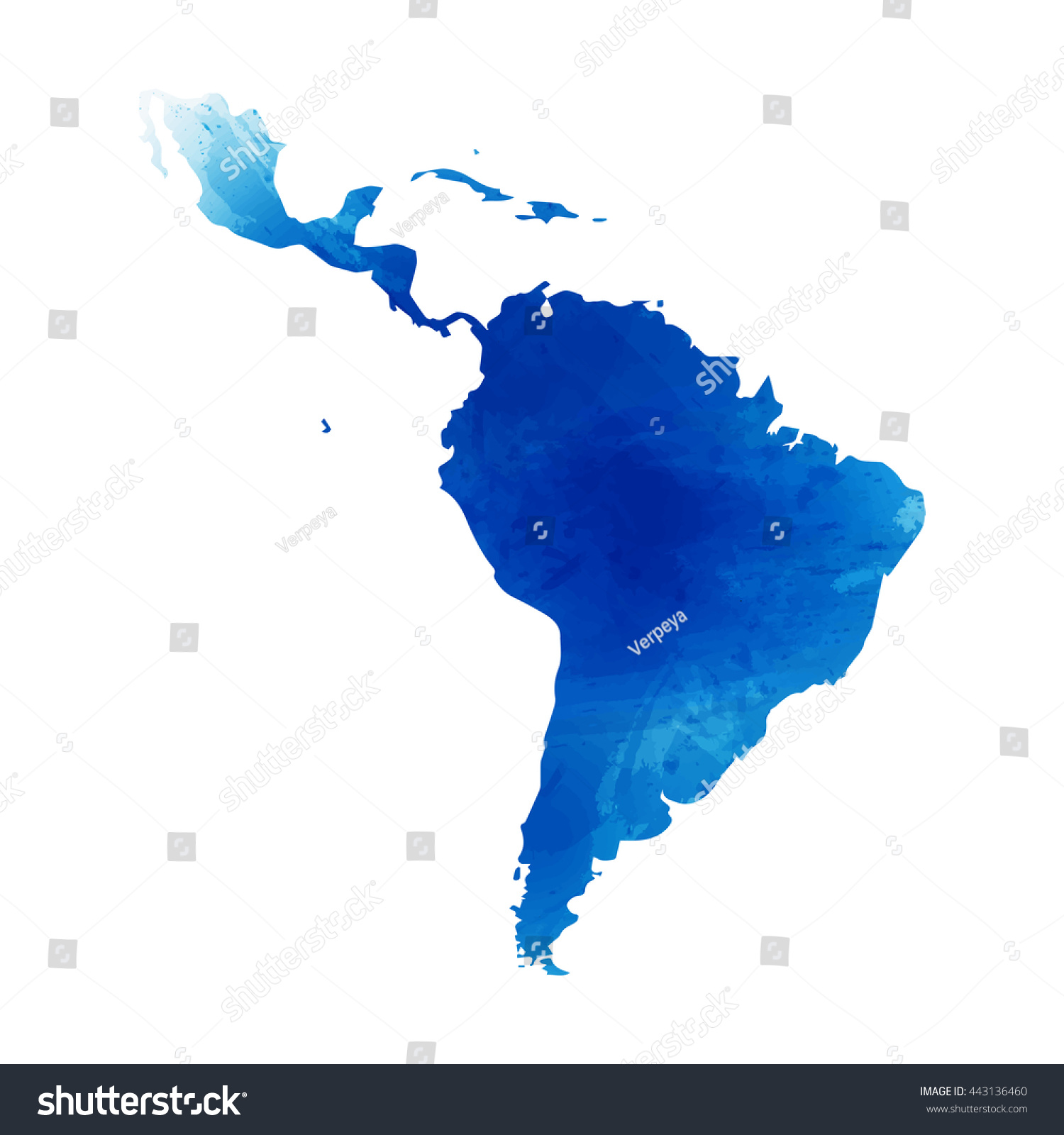 Vector Map Latin America Isolated Vector Stock Vector - Map of the latin america