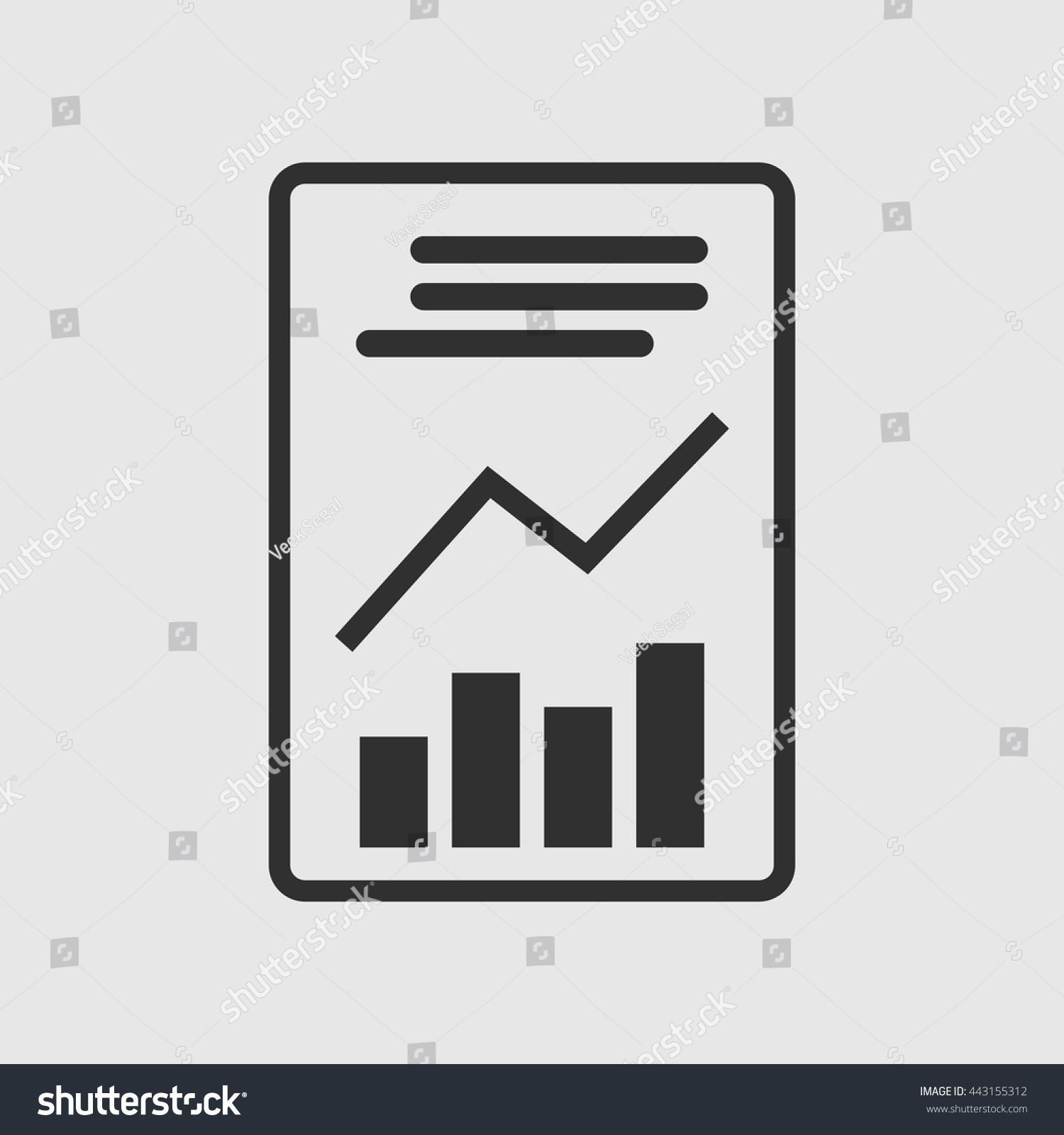 report icon sign report icon flat stock vector 443155312