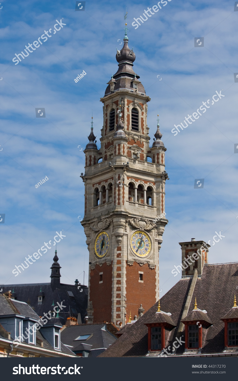 Chamber commerce building tower lille france stock photo for Chamber of commerce france