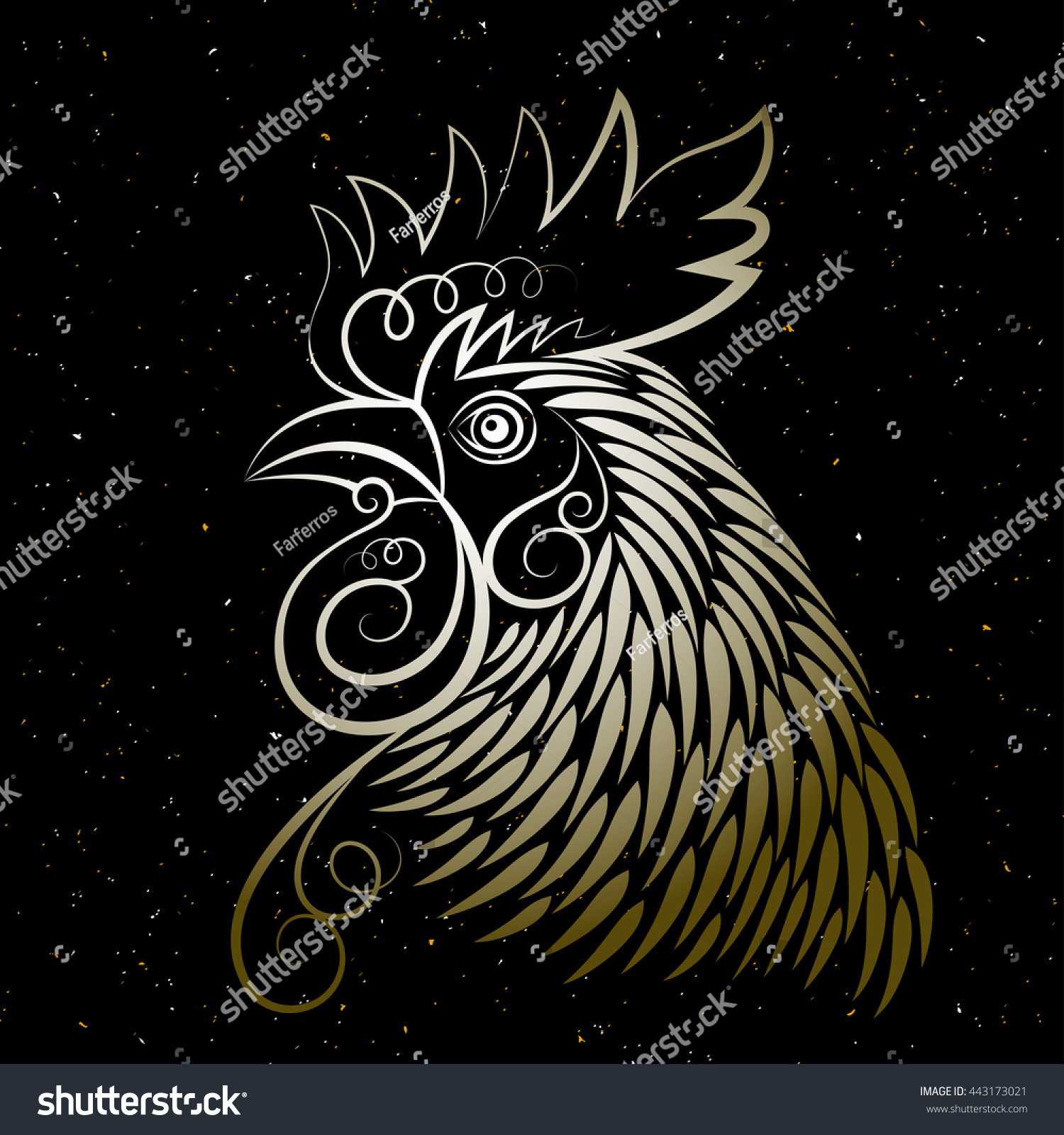 Calendar Head Design : Vector design chinese calendar year rooster stock
