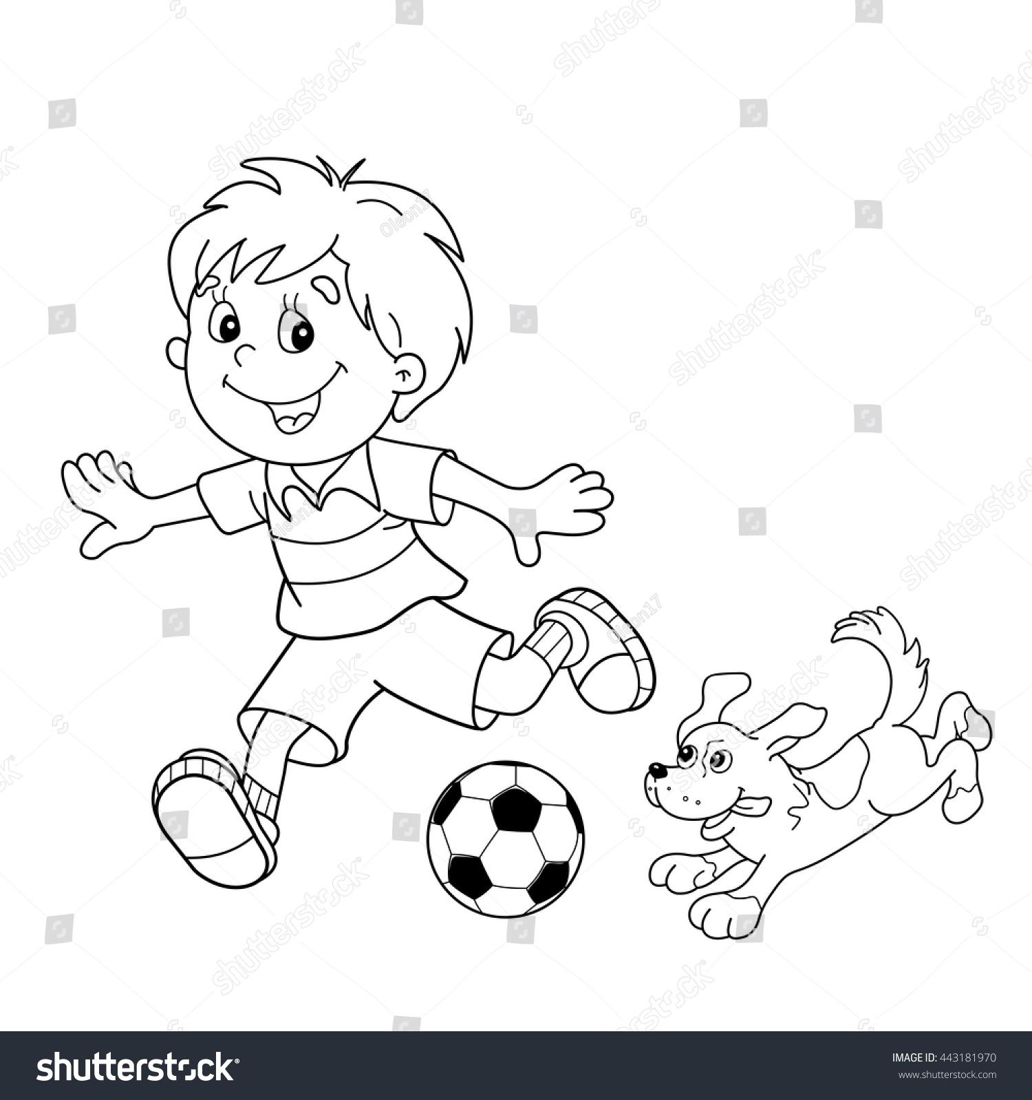Kick Soccer Ball Coloring Page