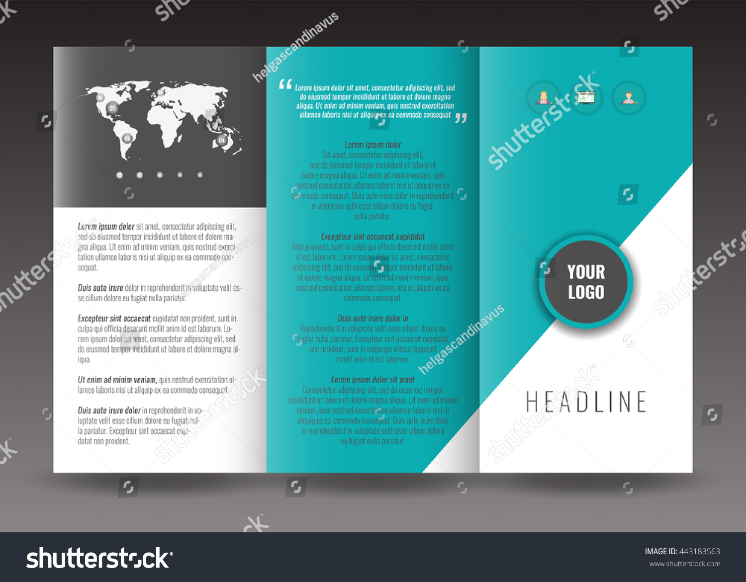 business trifold