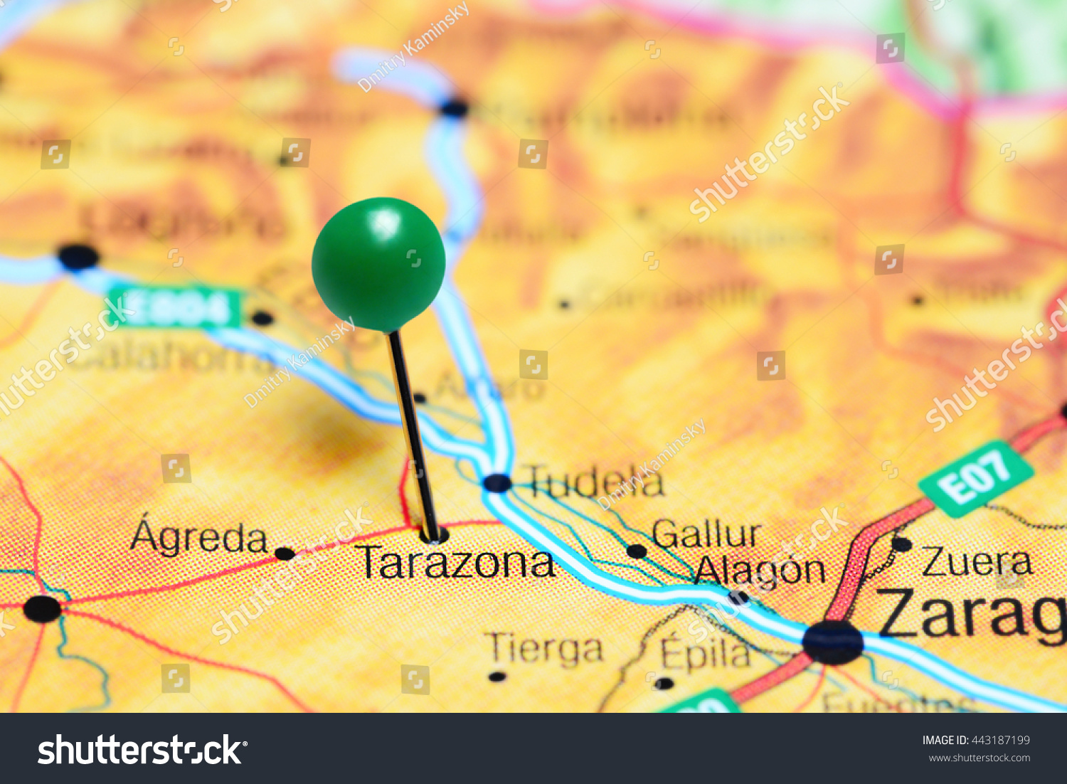 Tarazona Pinned On Map Spain Stock Photo (Edit Now) 443187199