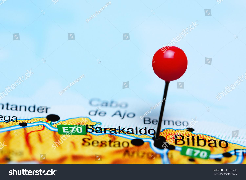Barakaldo Pinned On Map Spain Stock Photo Shutterstock - Barakaldo map