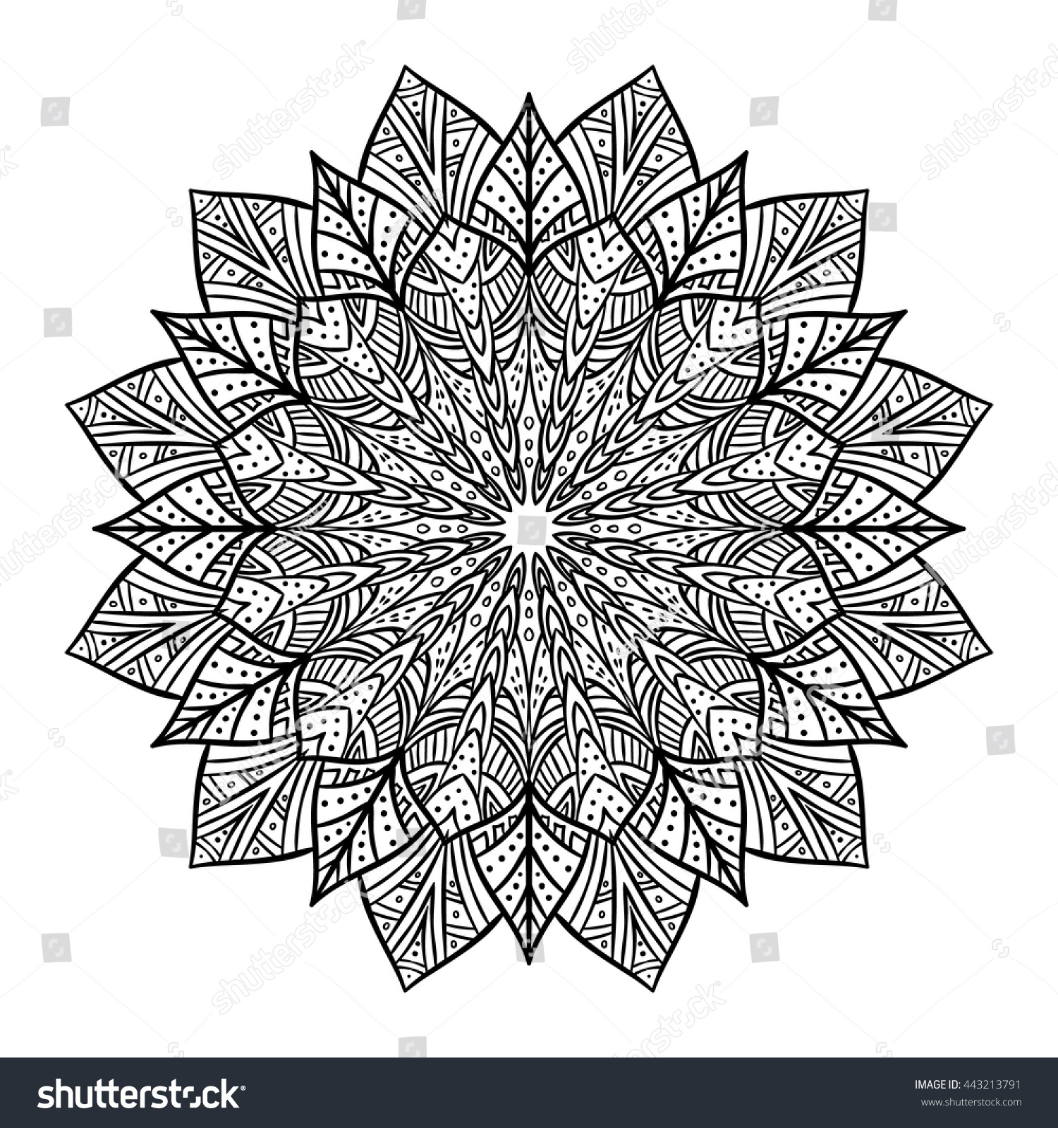vector doodle flower mandala coloring book for adult and childrencoloring page outline - Mandala Coloring Books For Adults