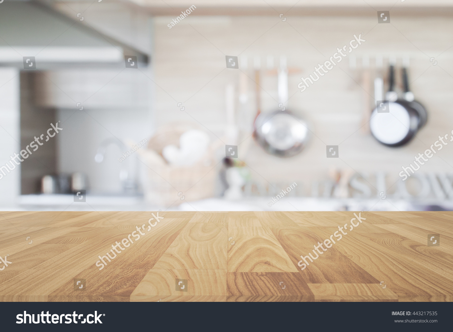 Kitchen Table Top Background wood table top blur kitchen background stock photo 443217535