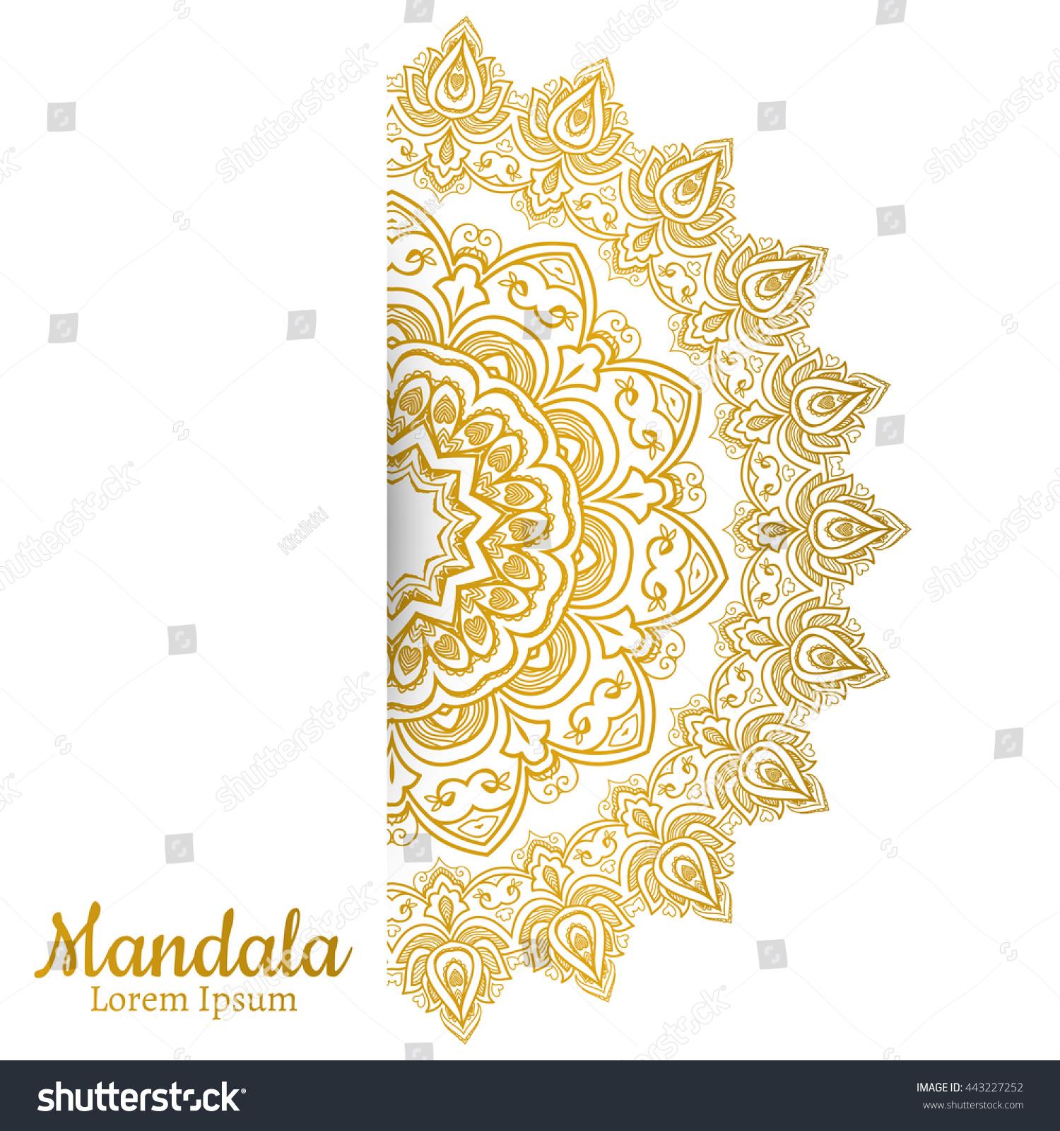 Mandala Vintage Decorative Element Ethnic Round Stock Vector ...