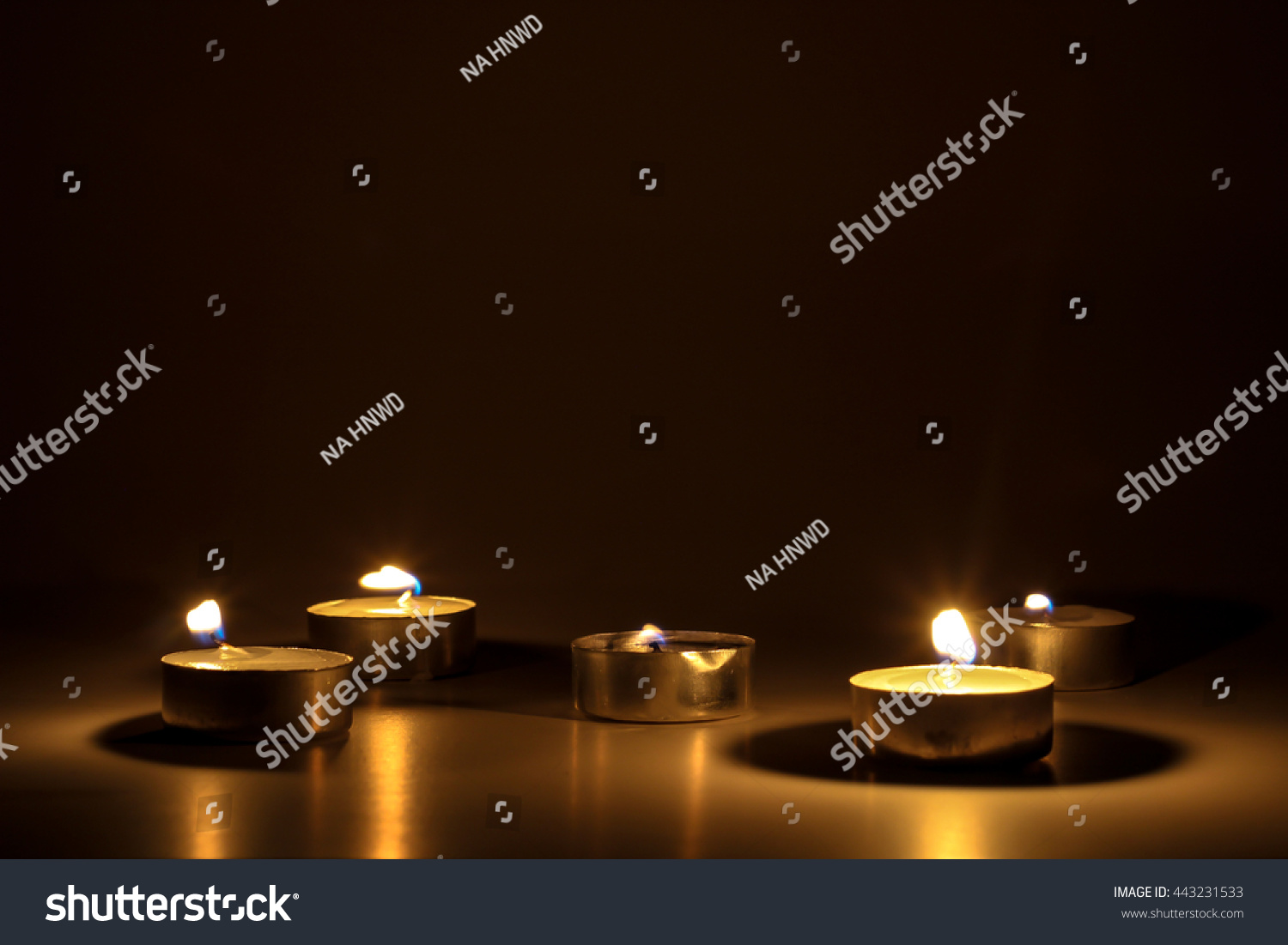 Candle light background Candle flame at night