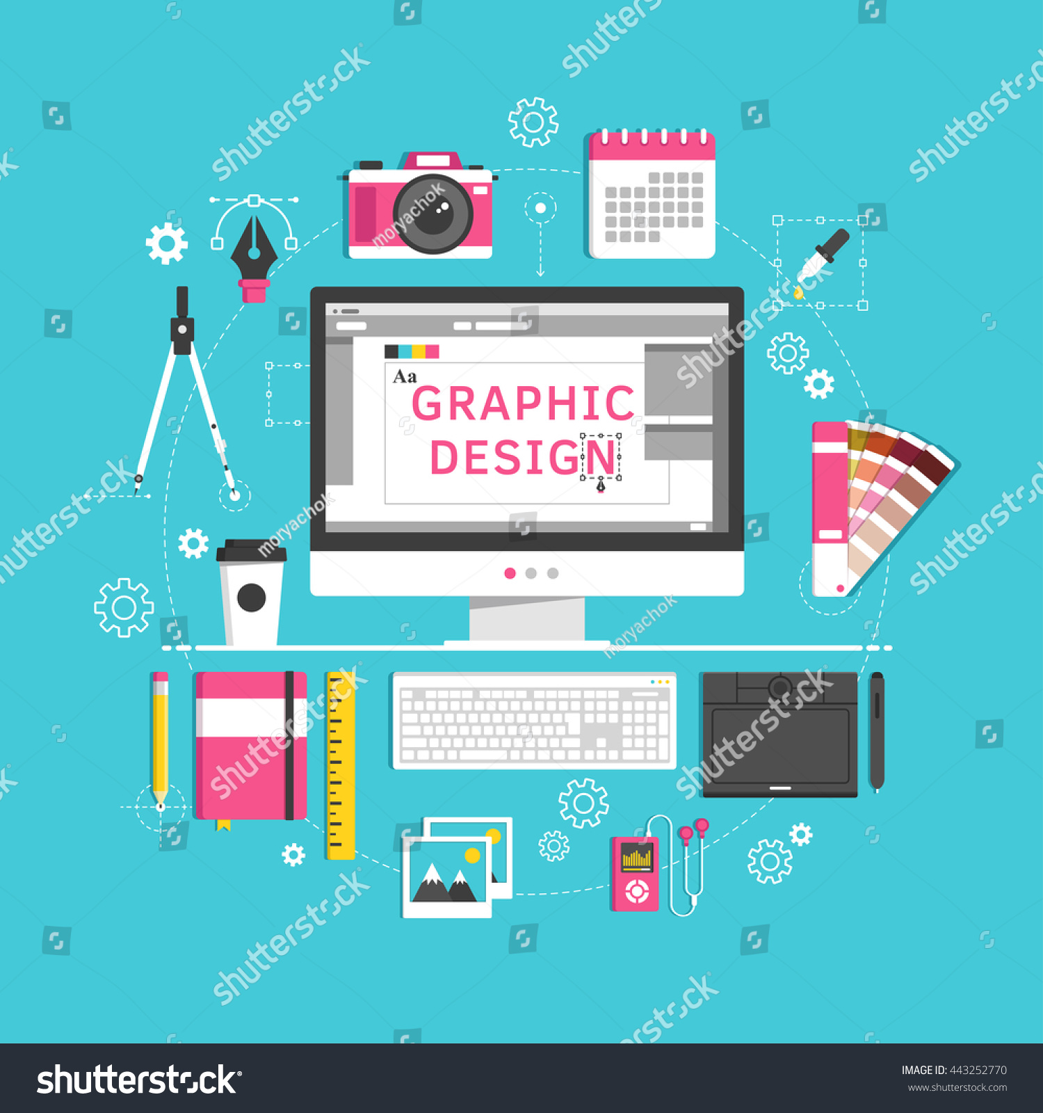 Flat Design Style Modern Vector Illustration Stock Vector