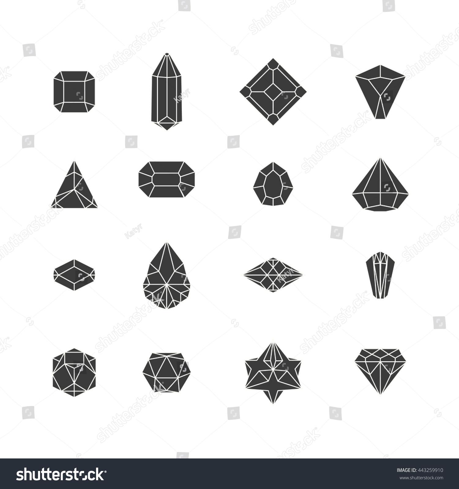 Vector Illustration Crystal Icons Design Website Stock Vector ...