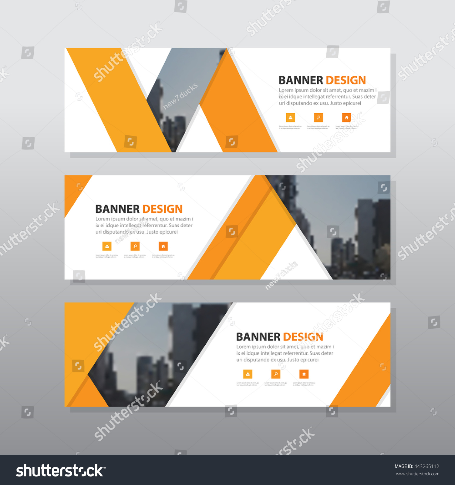 orange triangle abstract corporate business banner stock vector