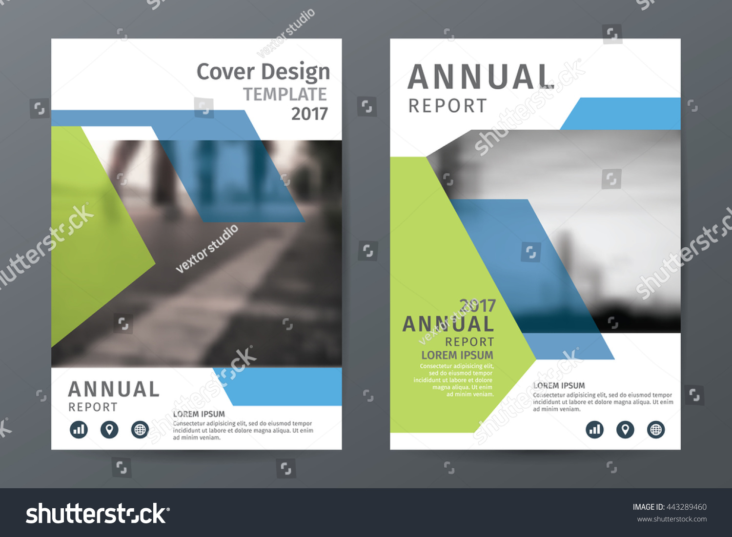 Abstract annual report brochure flyer template stock for Book report brochure template