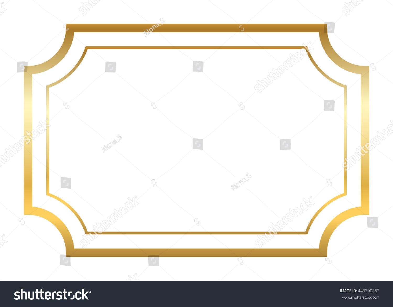 Gold Frame Beautiful Simple Golden Design Stock Vector 443300887 ...