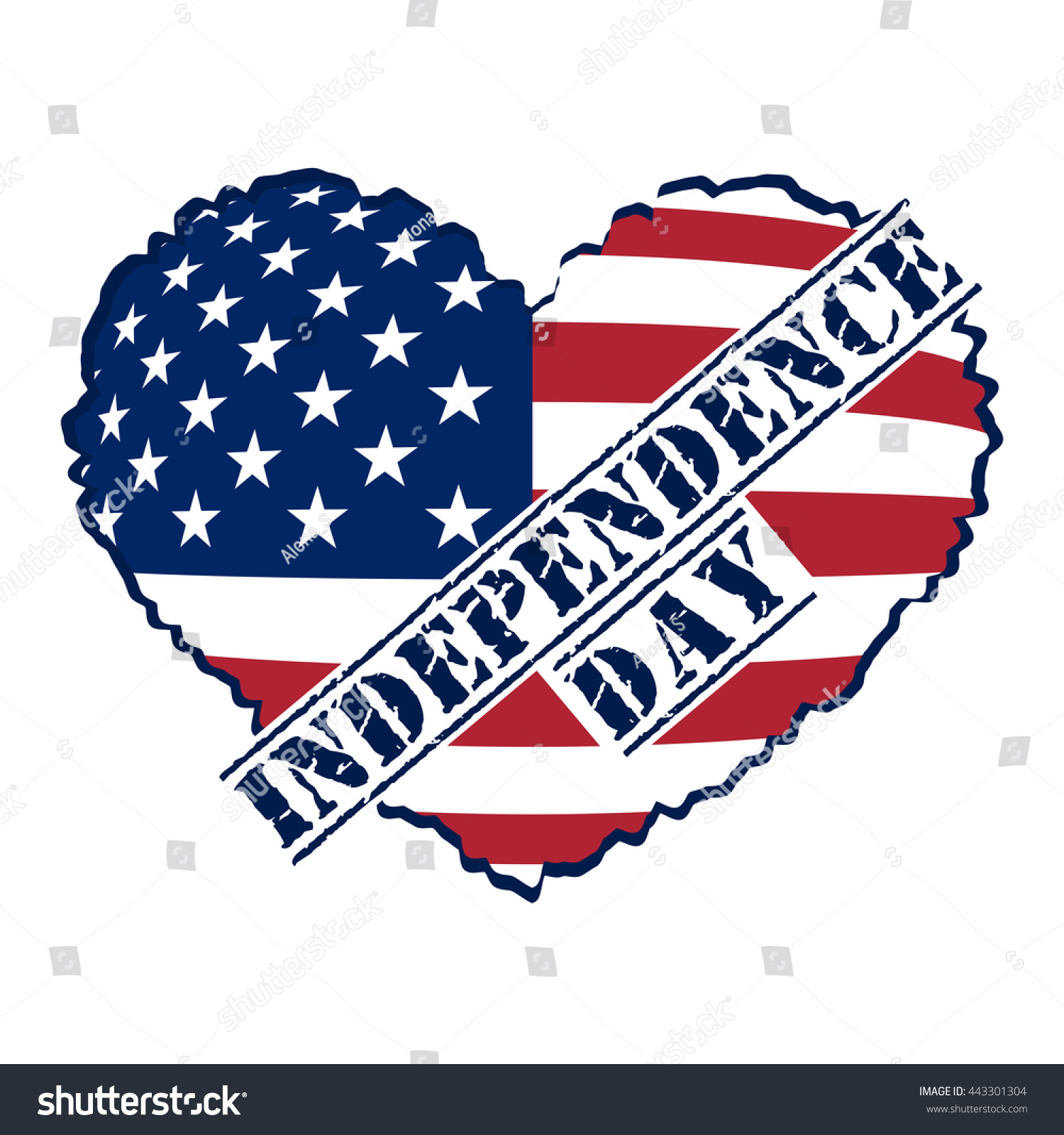 American flag heart shaped symbol 4th stock vector 443301304 american flag as heart shaped symbol for 4th of july independence day celebration patriotic biocorpaavc