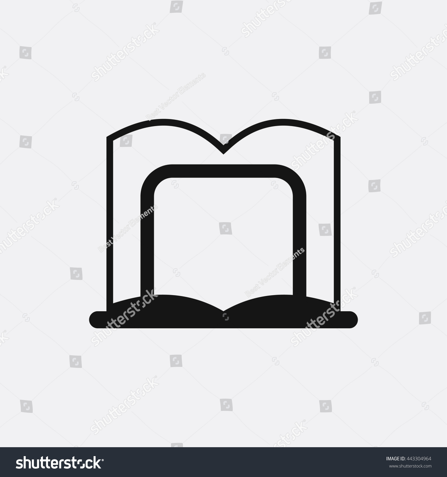 book stand icon illustration isolated vector sign symbol