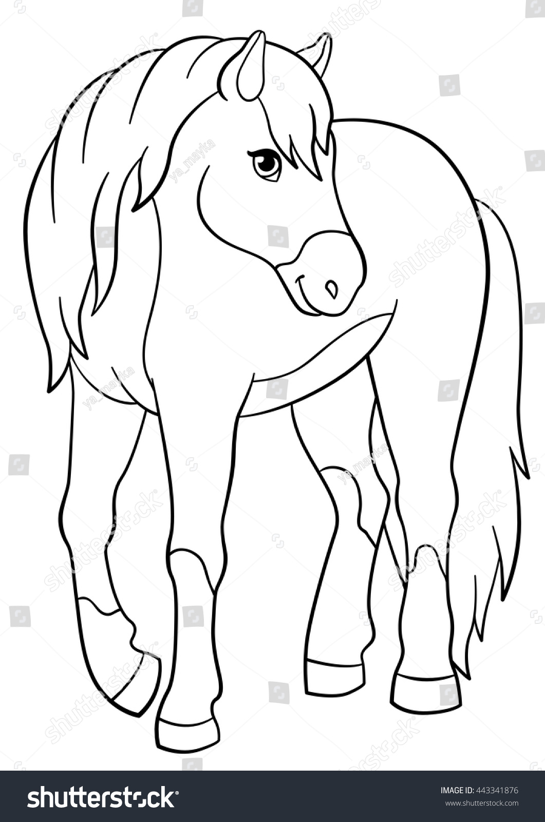 cute horse coloring pages - photo#27