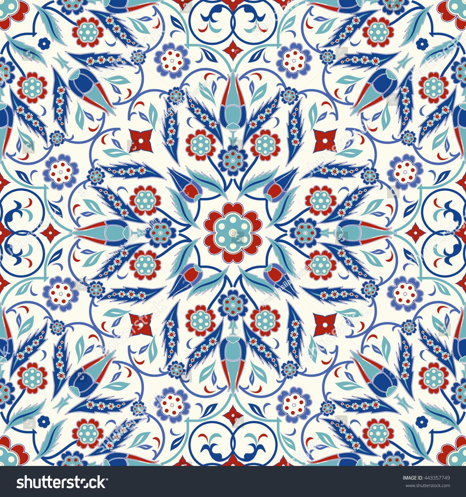Royalty-free Seamless turkish colorful pattern.… #443357749 Stock ...