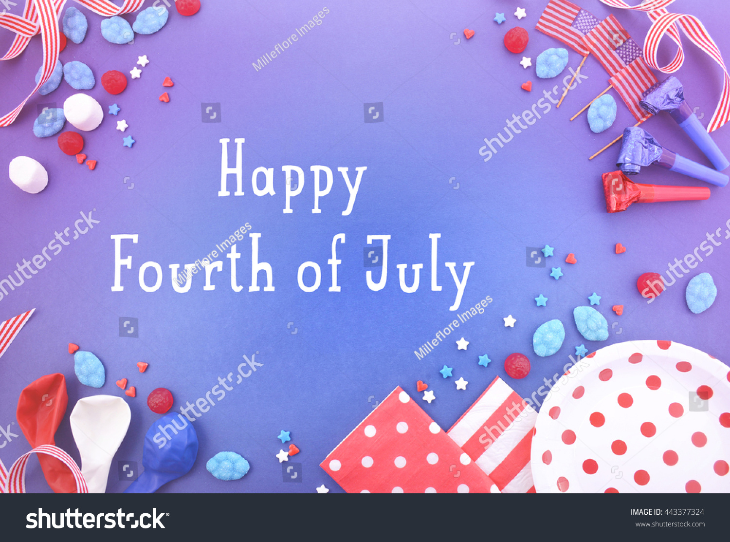 Happy Fourth July Party Background Decorated Stock Photo Edit Now