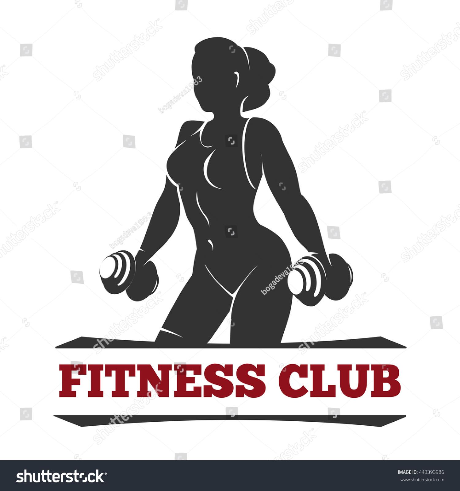 Fitness club gym emblem poster design stock vector for Gimnasio fitness club