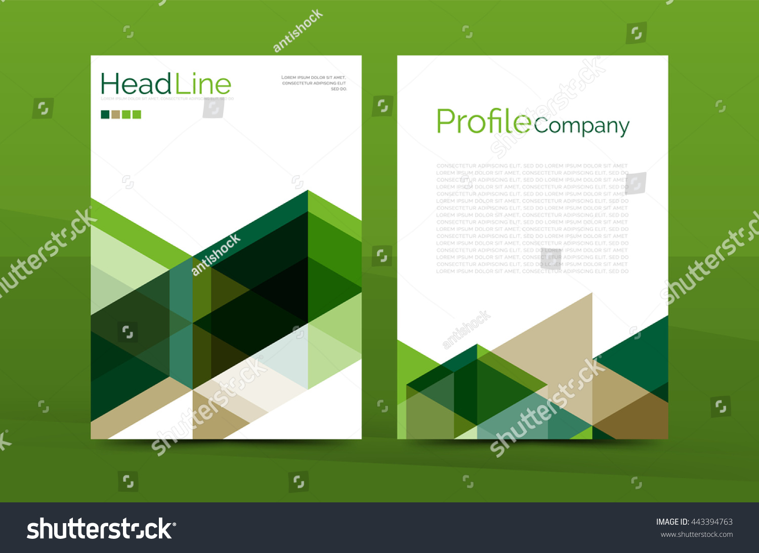 Color Business Brochure Cover Template Annual Stock Illustration