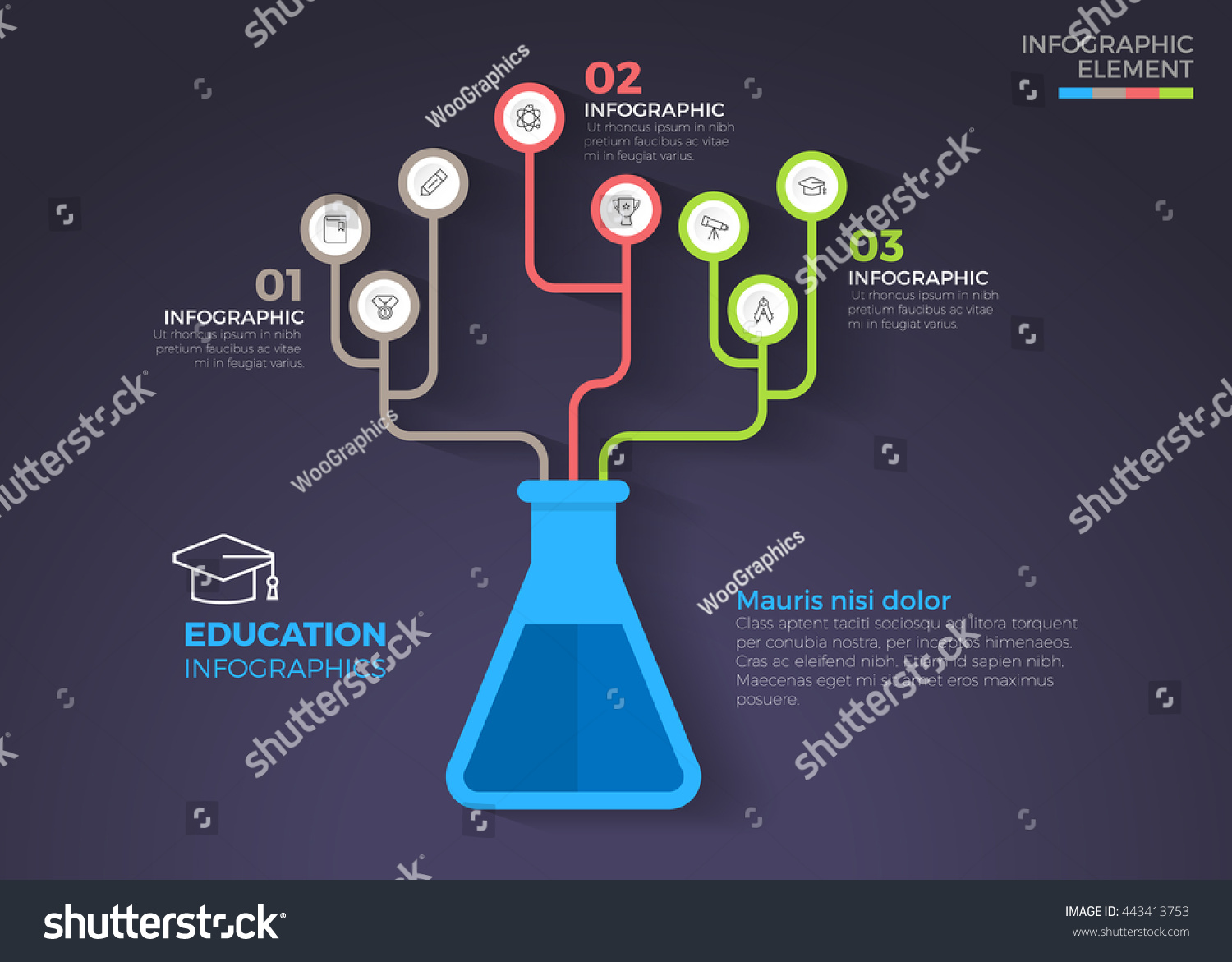 Medical education chemistry infographic template vector stock vector medical education chemistry infographic template vector illustration can be used for workflow layout ccuart Images