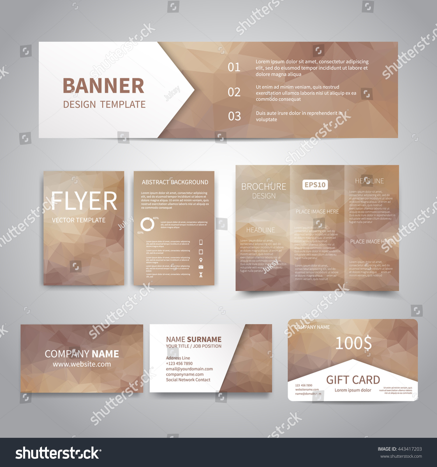 Flyers and business cards printing images free business cards banner flyers brochure business cards gift stock vector 443417203 banner flyers brochure business cards gift card magicingreecefo Image collections