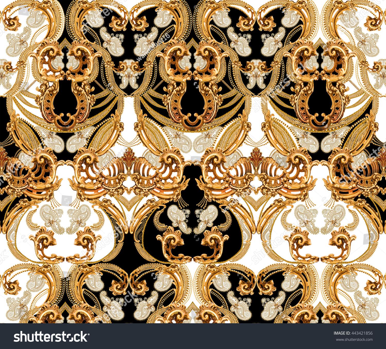 Seamless baroque pattern stock illustration 443421856 shutterstock seamless baroque pattern doublecrazyfo Gallery