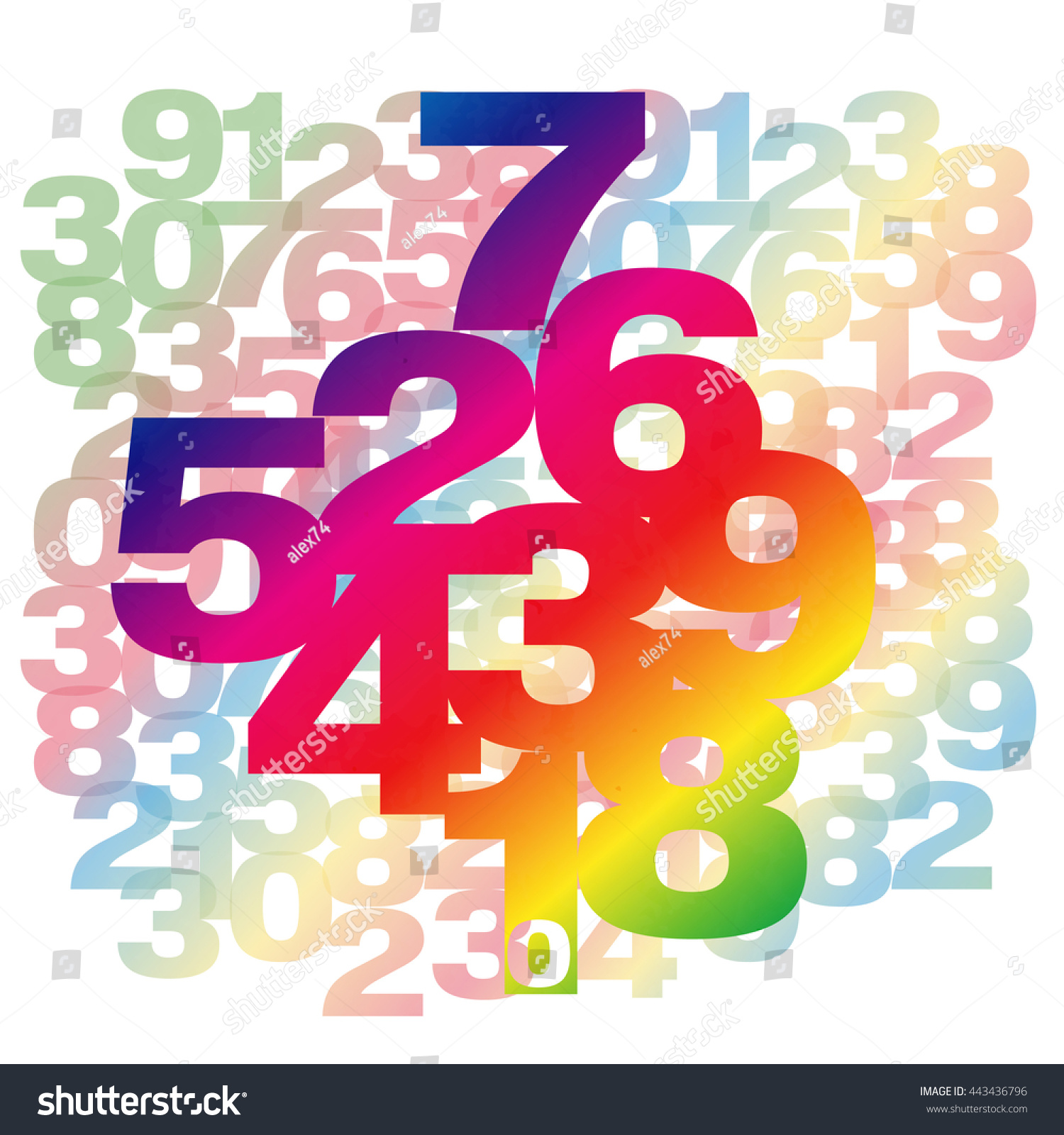 Abstract background numbers math symbols vector stock vector abstract background with numbers math symbols vector illustration colorful background biocorpaavc Images