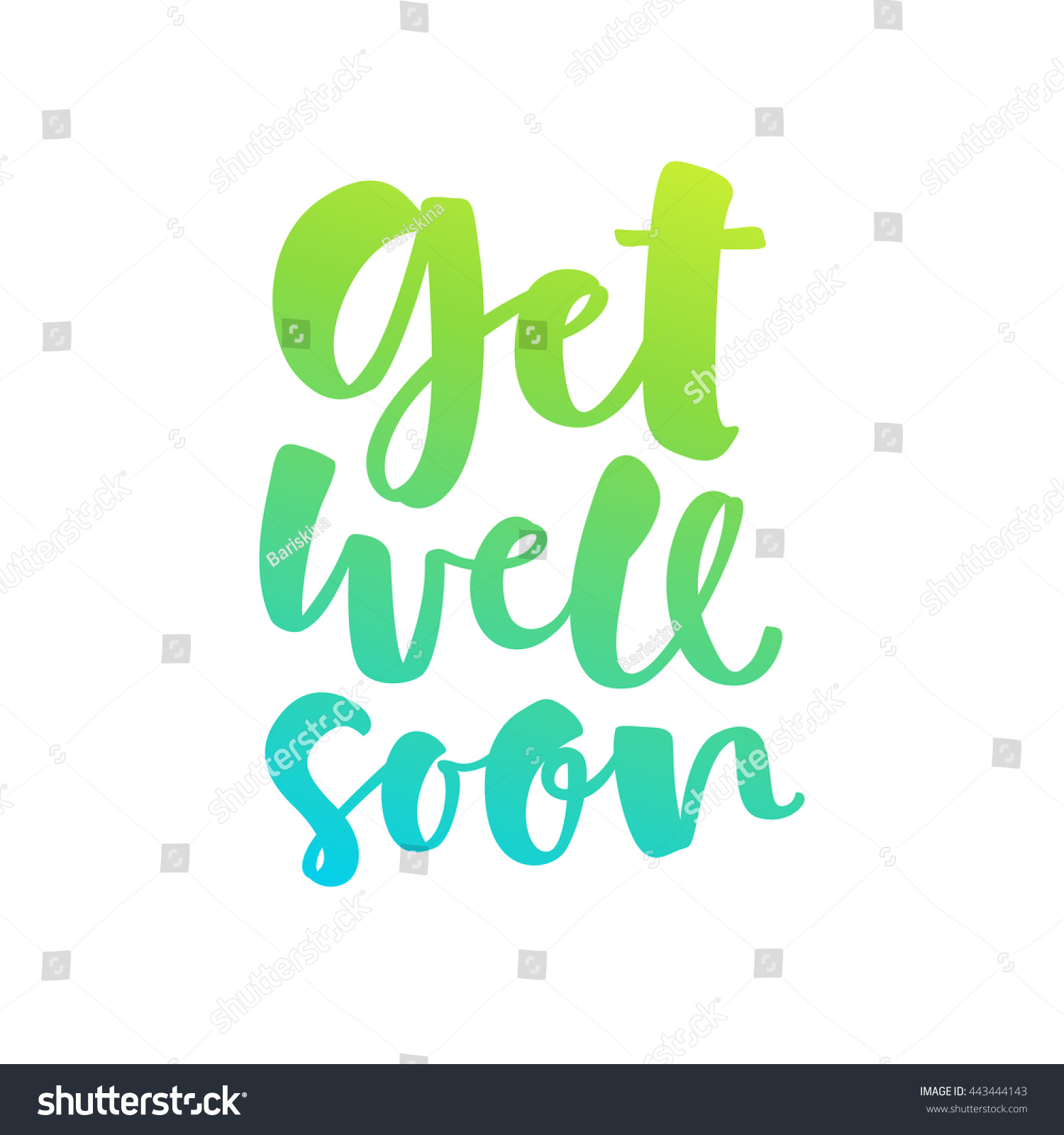Get Well Soon Vector Lettering Card Stock Vector Royalty Free