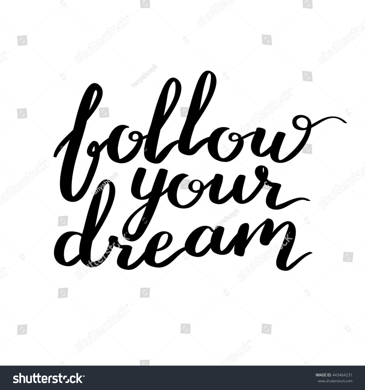 Lettering vector text motivational quote sweet stock