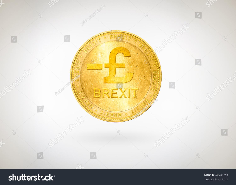 Pound Gbp Great Britain England British Coin Minus Stock Photo Edit