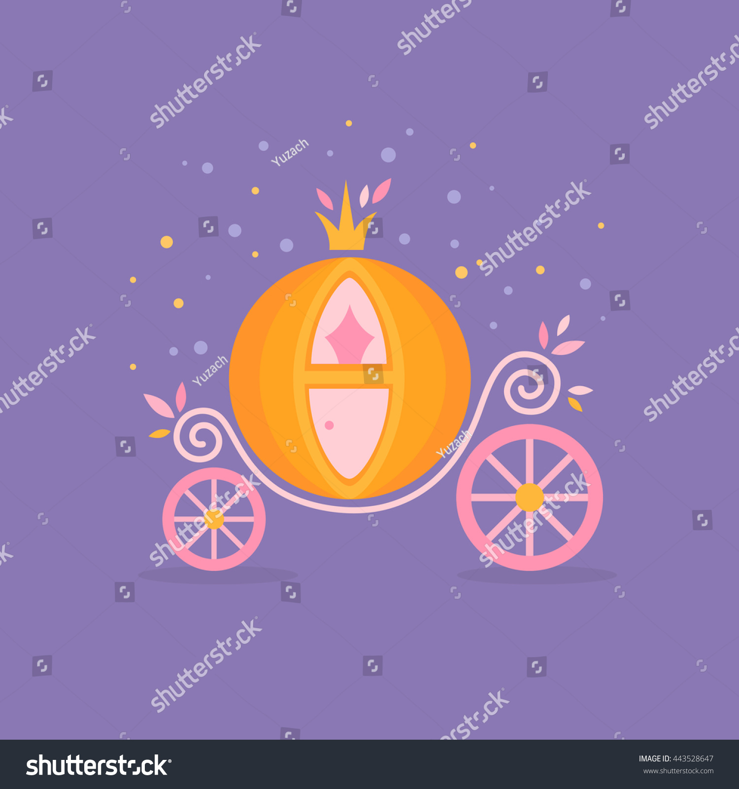 Cinderella Dresses Stock Vector Illustration Of Isolated: Pumpkin Carriage Cinderella Cartoon Fairytale Flat Stock